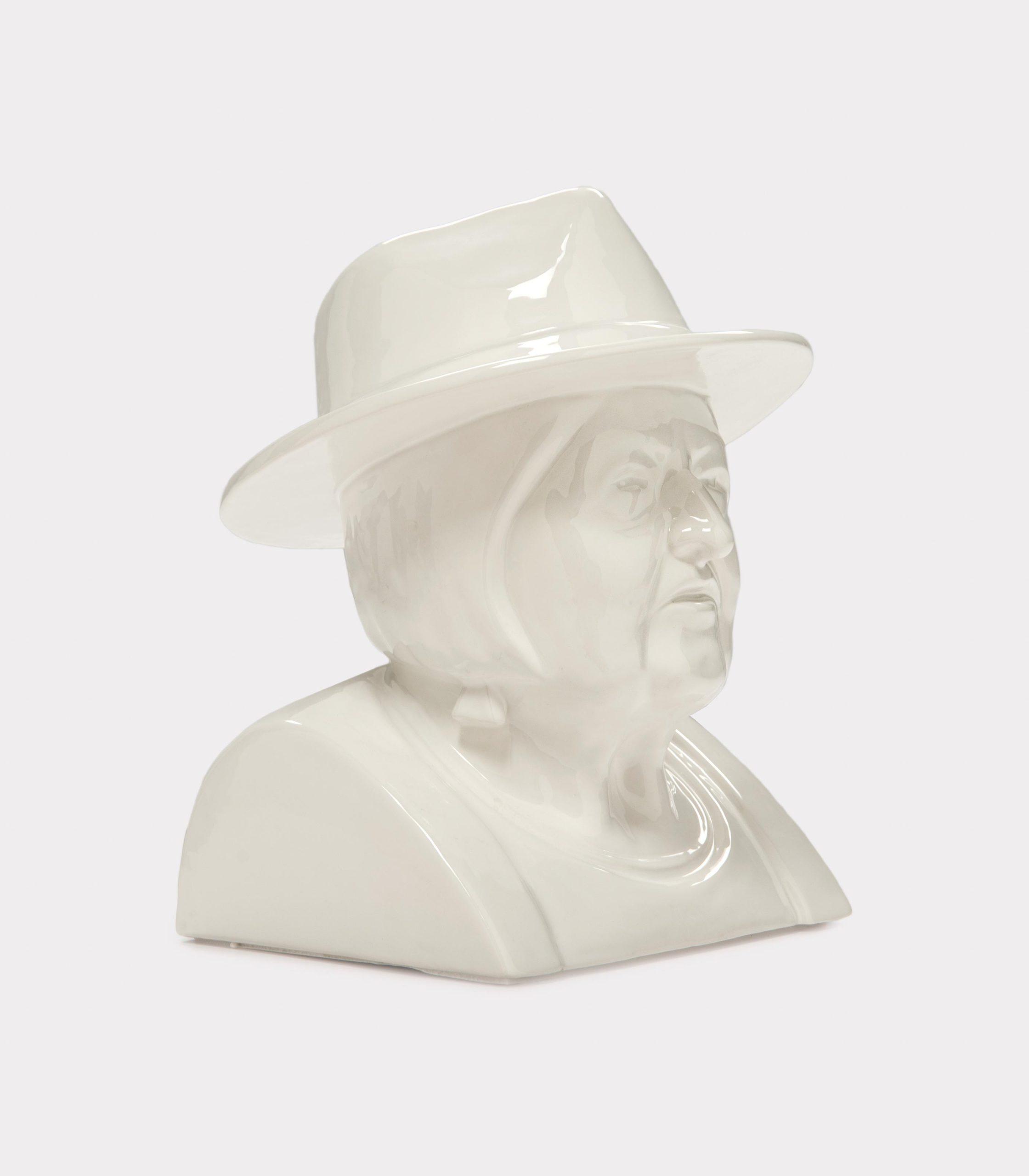 "Jimmy D Lanza's ""La Luisa"", solid white handmade flowerpot loopo milano design FD"