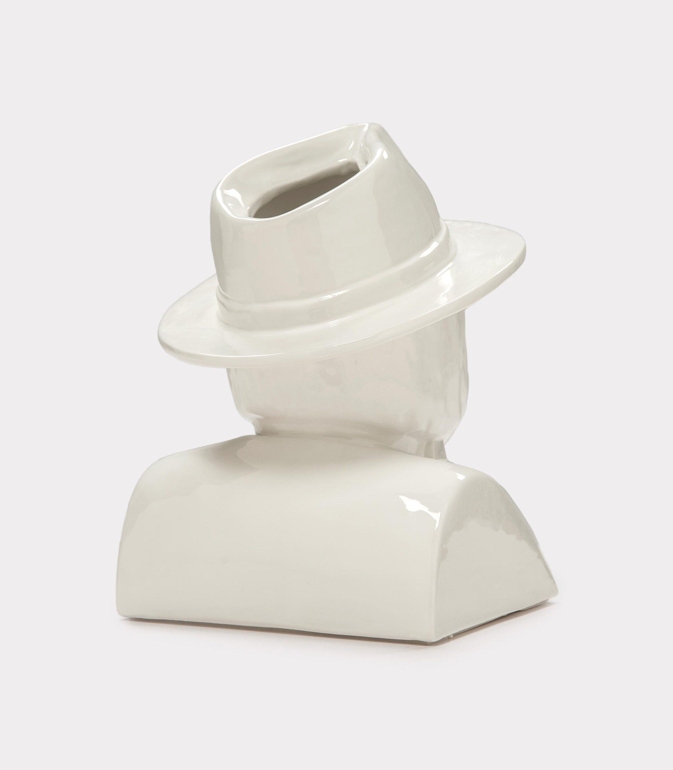 "Jimmy D Lanza's ""La Luisa"", solid white handmade flowerpot loopo milano design R"