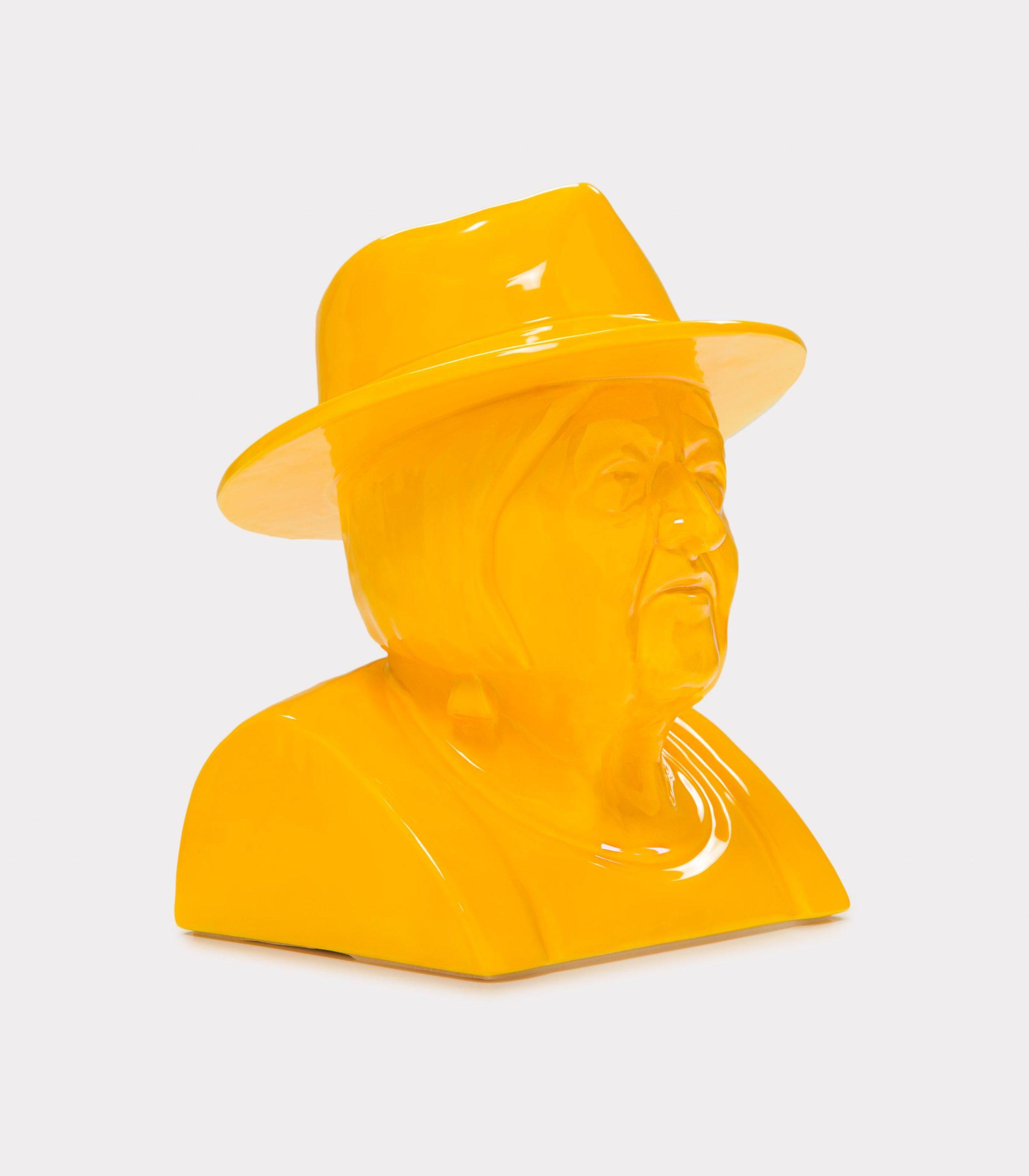 "Jimmy D Lanza's ""La Luisa"", solid yellow handmade flowerpot loopo milano design FD"