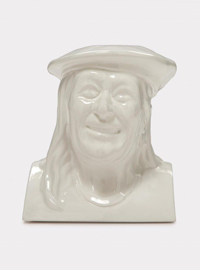"Jimmy D Lanza's ""La Vilma"", solid white handmade flowerpot loopo milano design F"