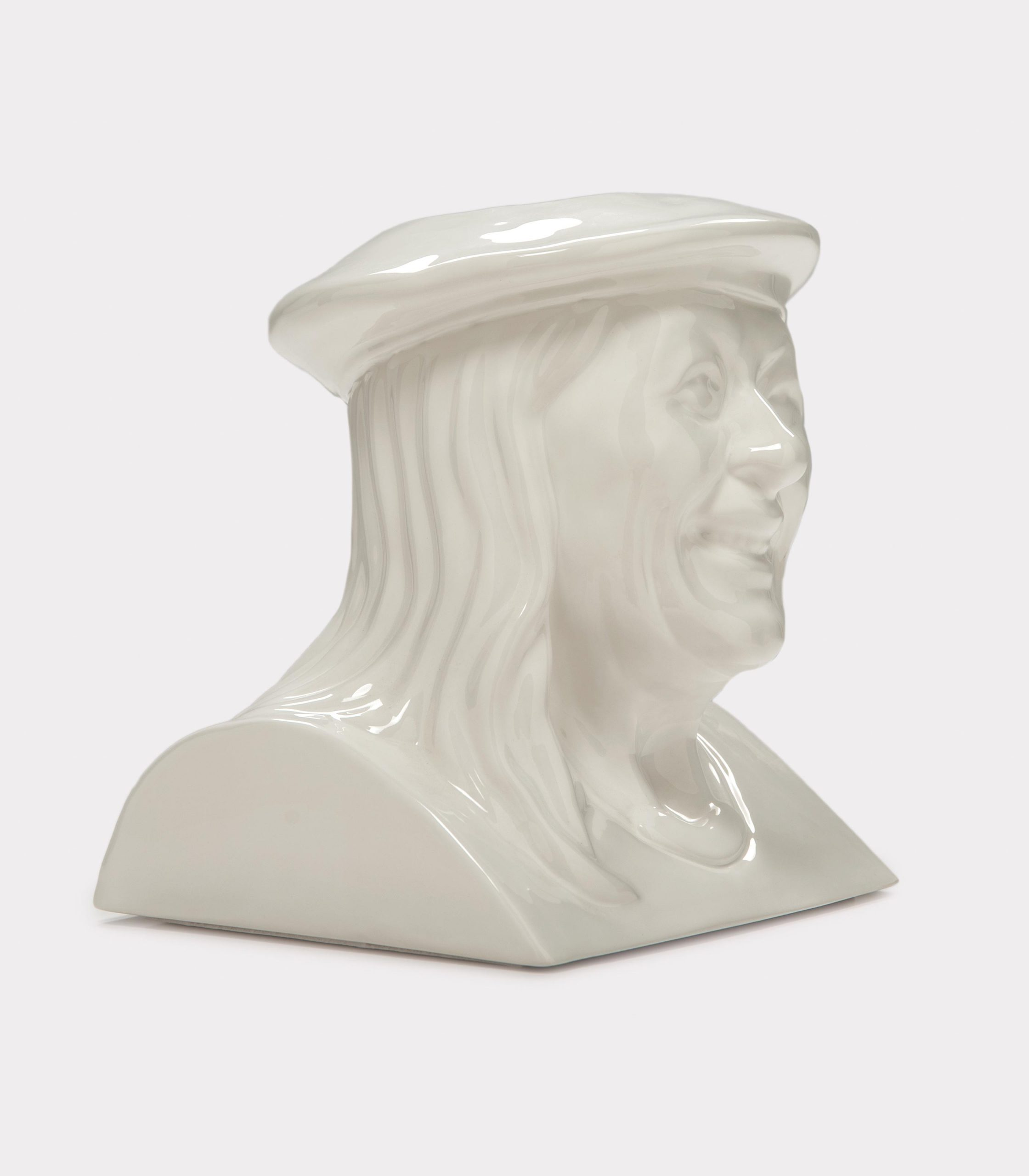 "Jimmy D Lanza's ""La Vilma"", solid white handmade flowerpot loopo milano design FD"