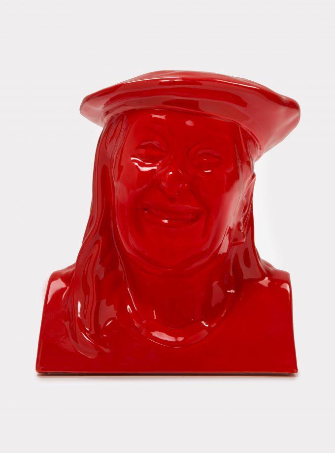 "Jimmy D Lanza's ""La Vilma"", solid red handmade flowerpot loopo milano design F"