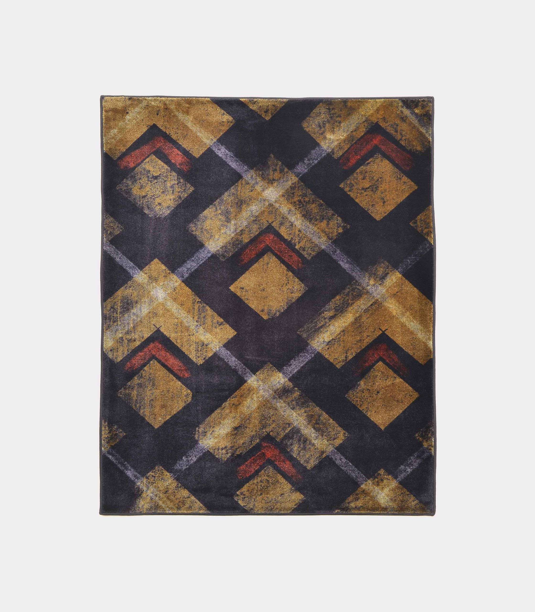 """""""Abstract"""" blue rug in printed fabric loopo milano design F"""