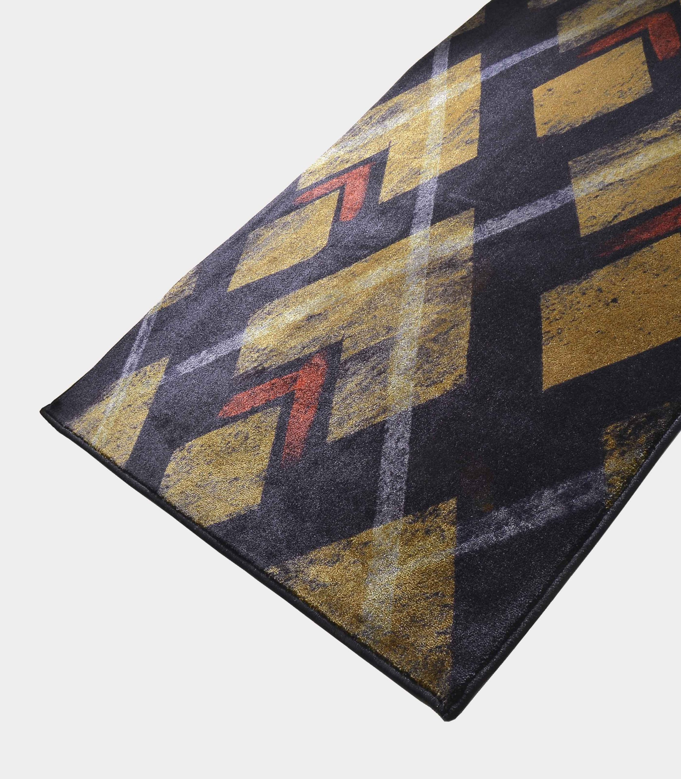 """""""Abstract"""" blue rug in printed fabric loopo milano design FD"""