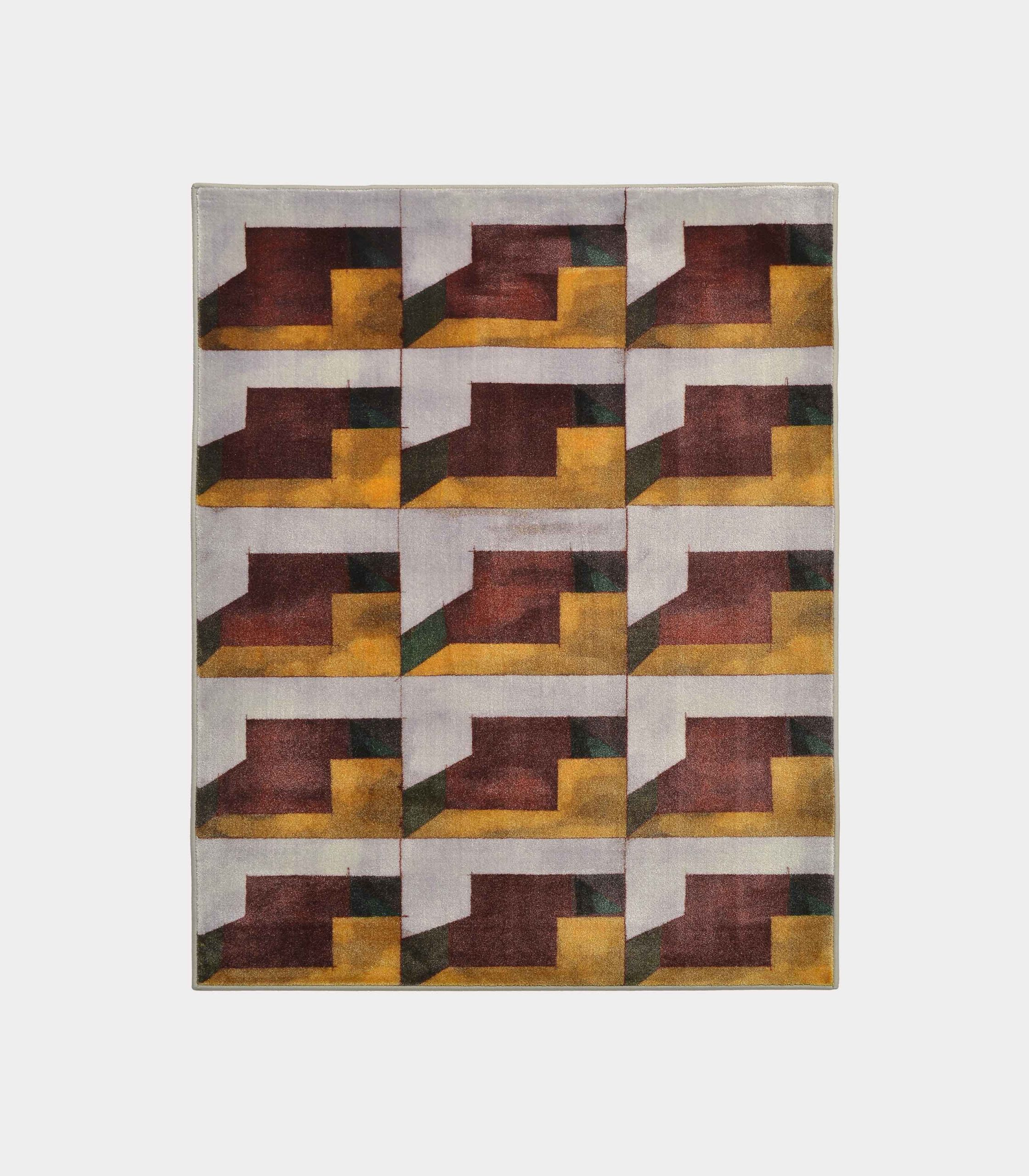 """""""Abstract"""" yellow rug in printed fabric loopo milano design F"""