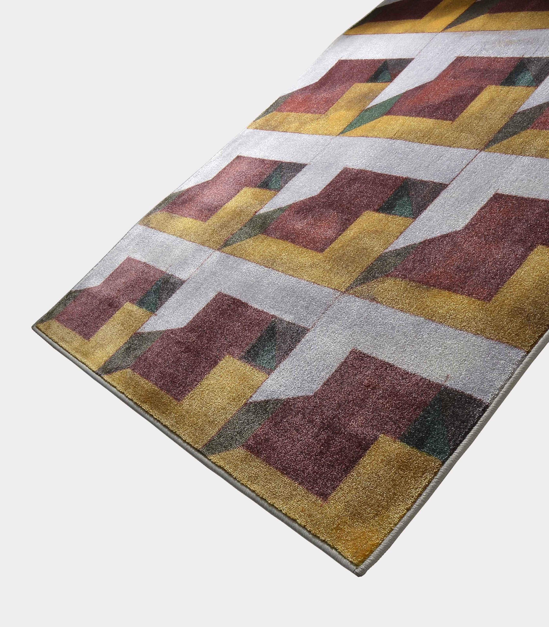 """""""Abstract"""" yellow rug in printed fabric loopo milano design FD"""