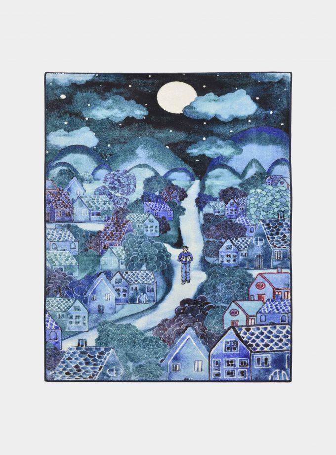 tappeto notturno blu loopo milano design F