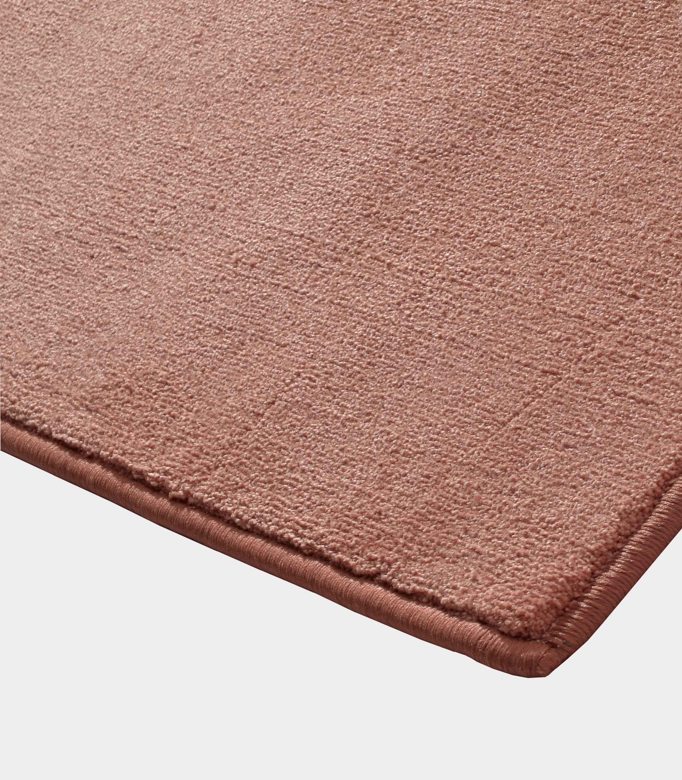"""""""Solid"""" antique pink rug in monocolor fabric loopo milano design C"""