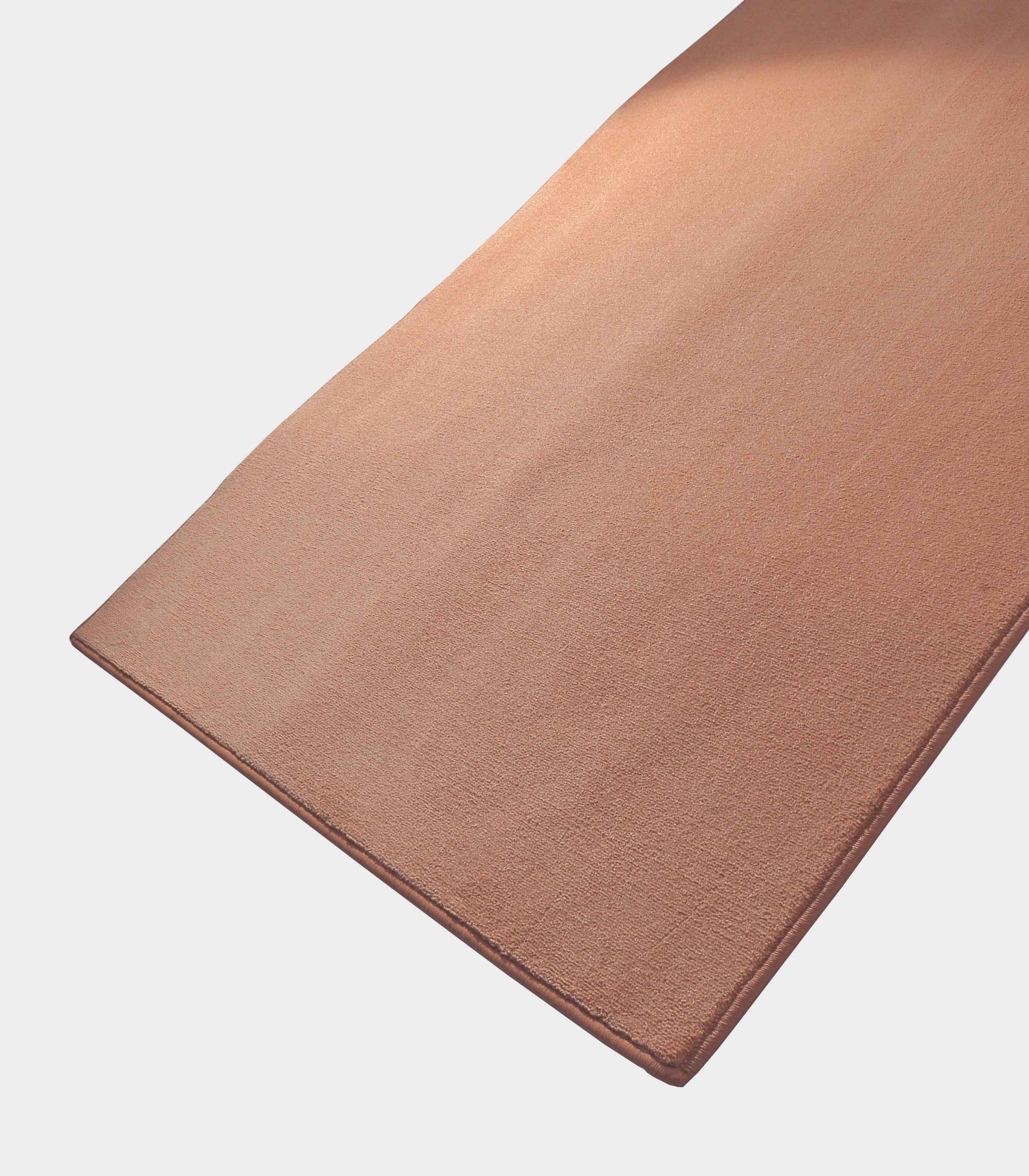 """""""Solid"""" antique pink rug in monocolor fabric loopo milano design FD"""