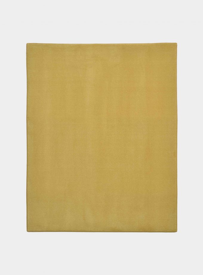 """Solid"" mustard rug in monocolor fabric loopo milano design F"