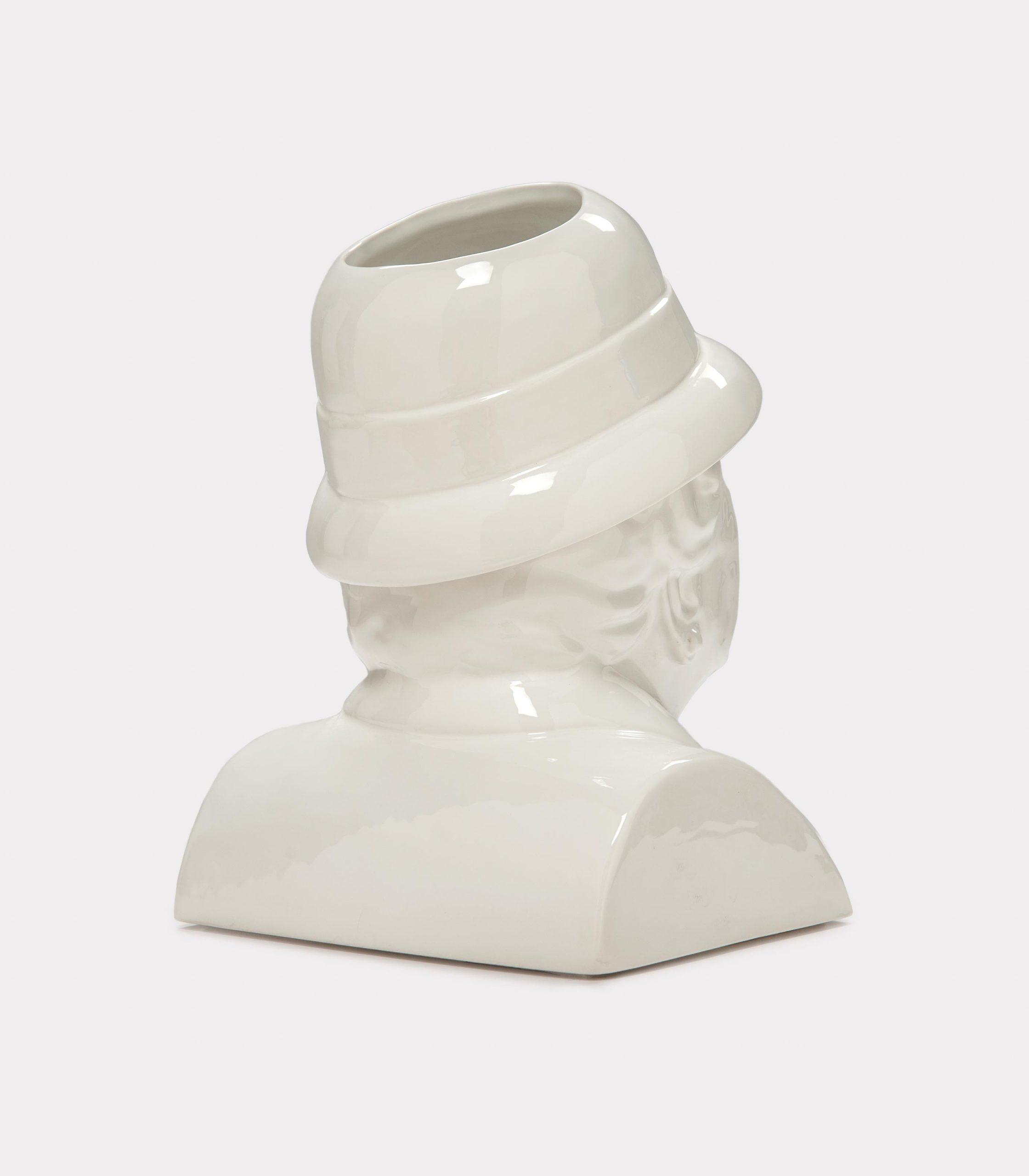"""Jimmy D Lanza's """"La Gisella"""", solid white handmade flowerpot loopo milano design R"""