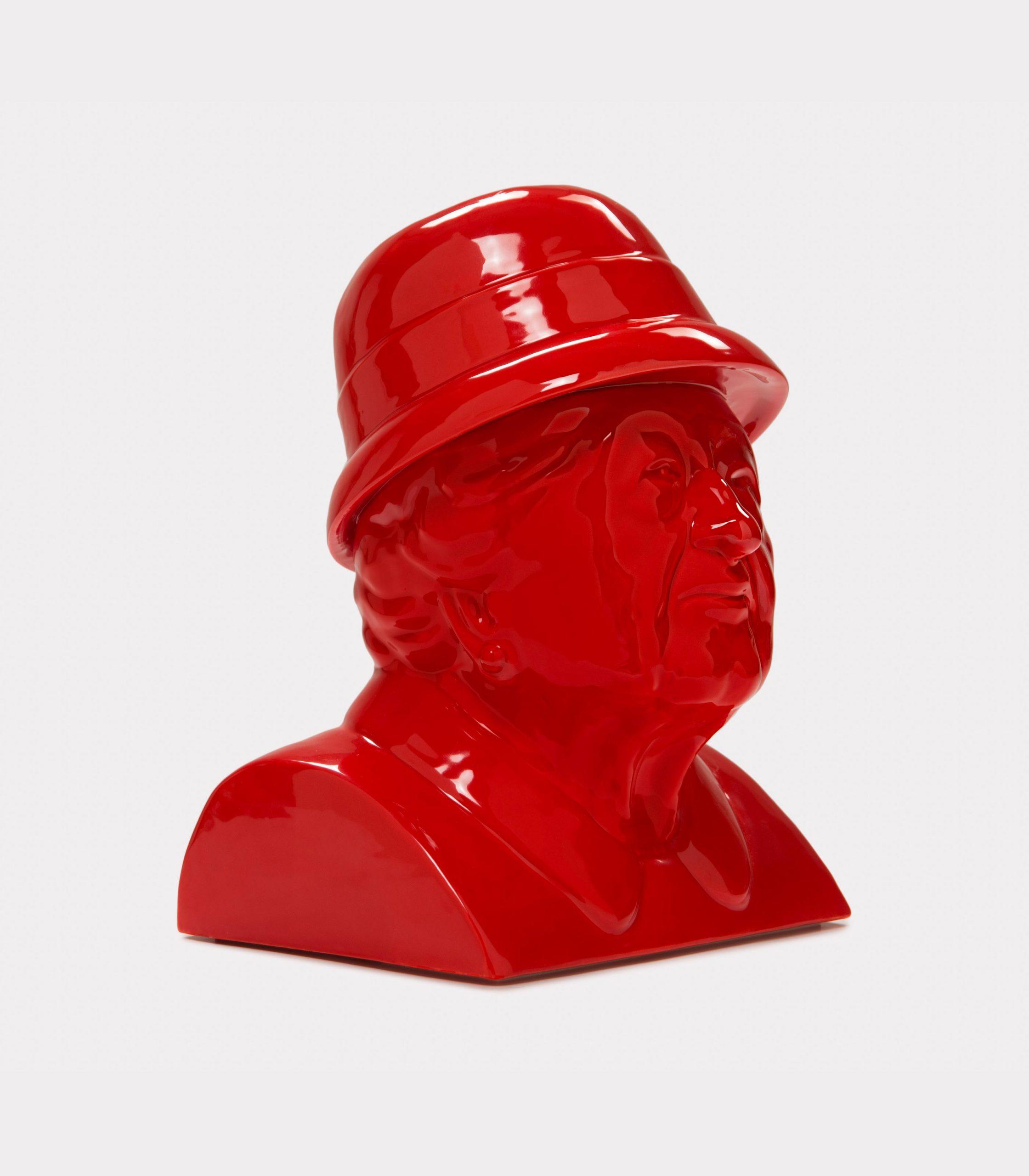 "Jimmy D Lanza's ""La Gisella"", solid red handmade flowerpot loopo milano design FD"