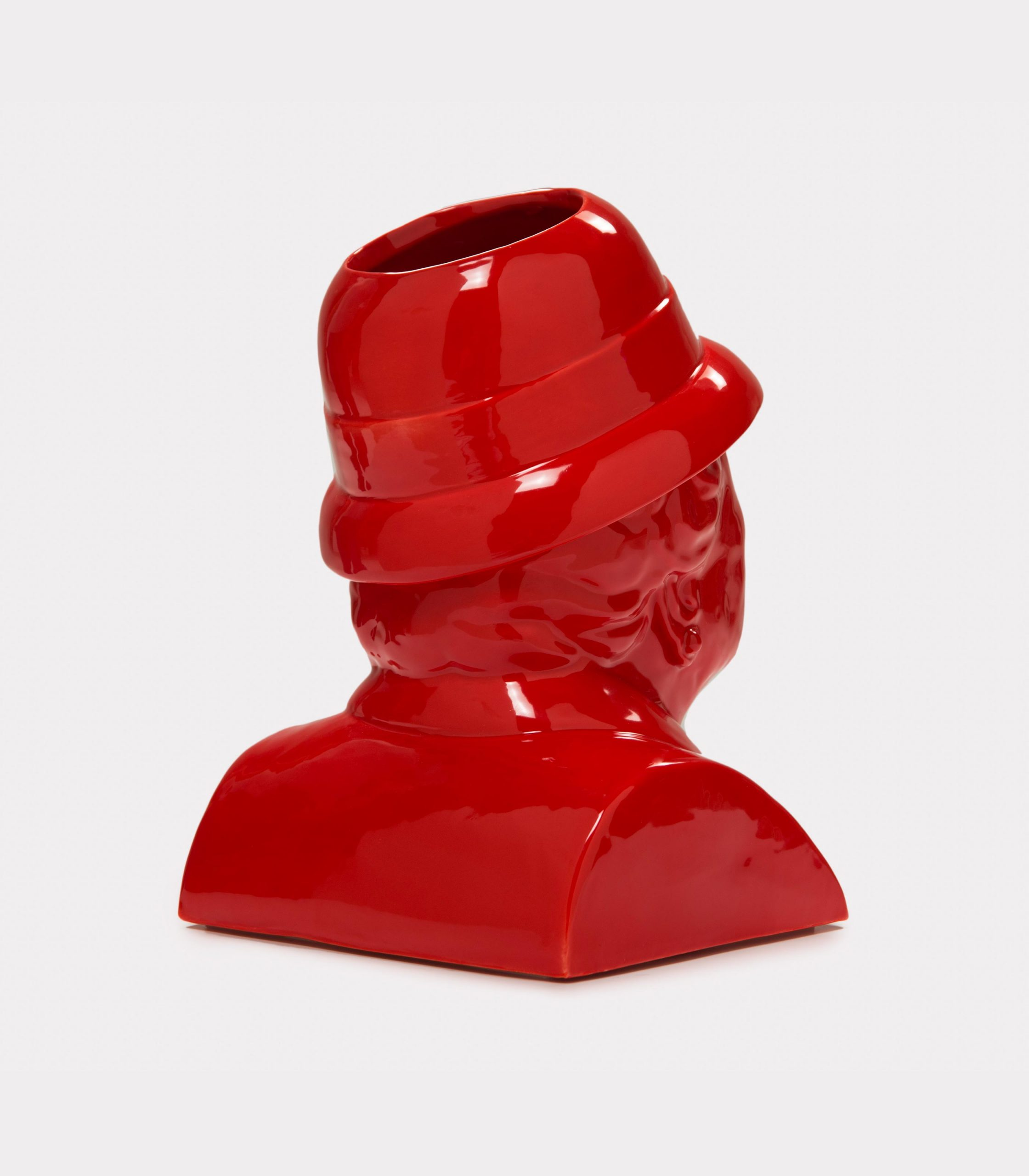 "Jimmy D Lanza's ""La Gisella"", solid red handmade flowerpot loopo milano design R"