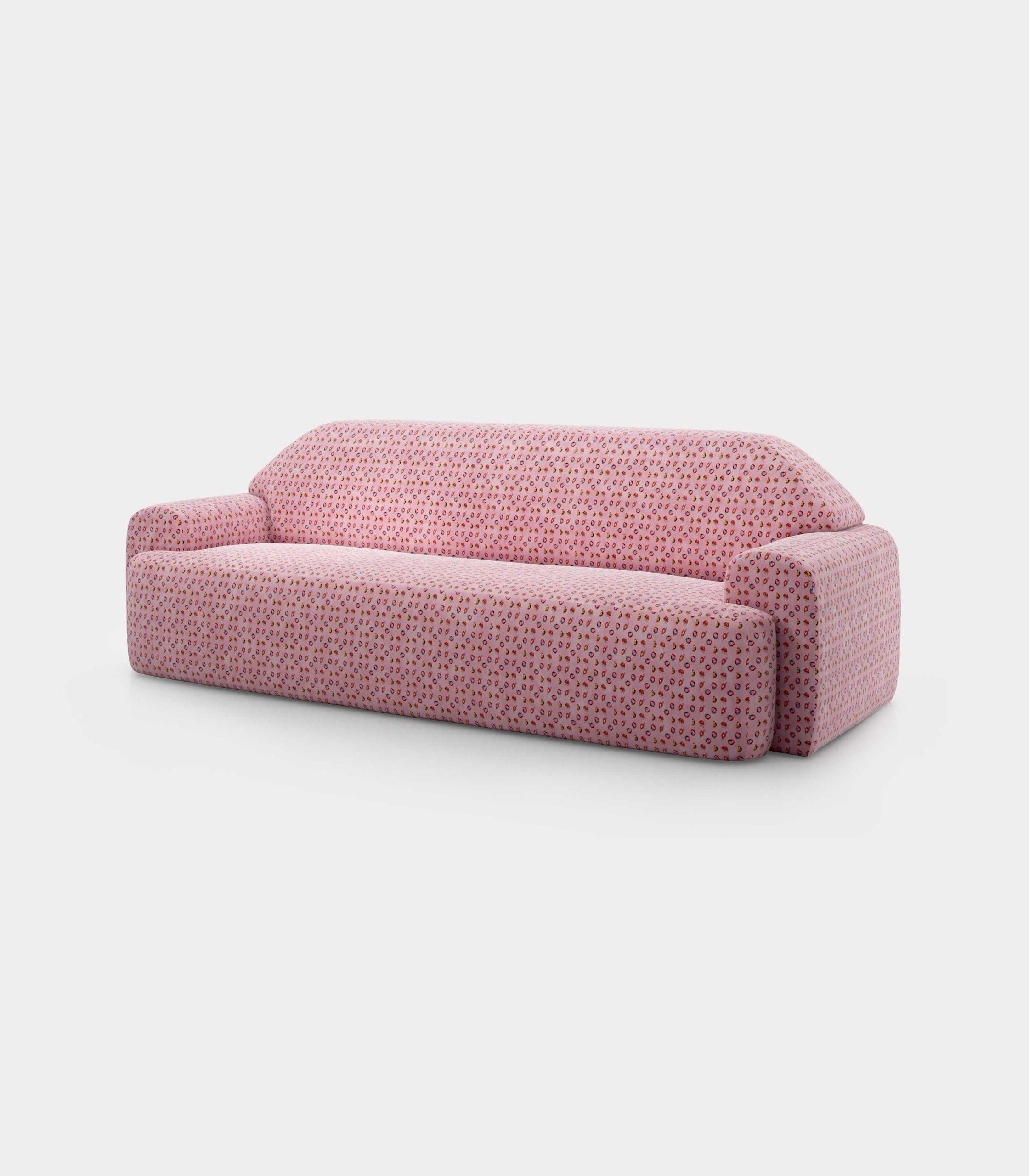 """Mouth and Roses"" three seater velvet sofa loopo milan design FD"