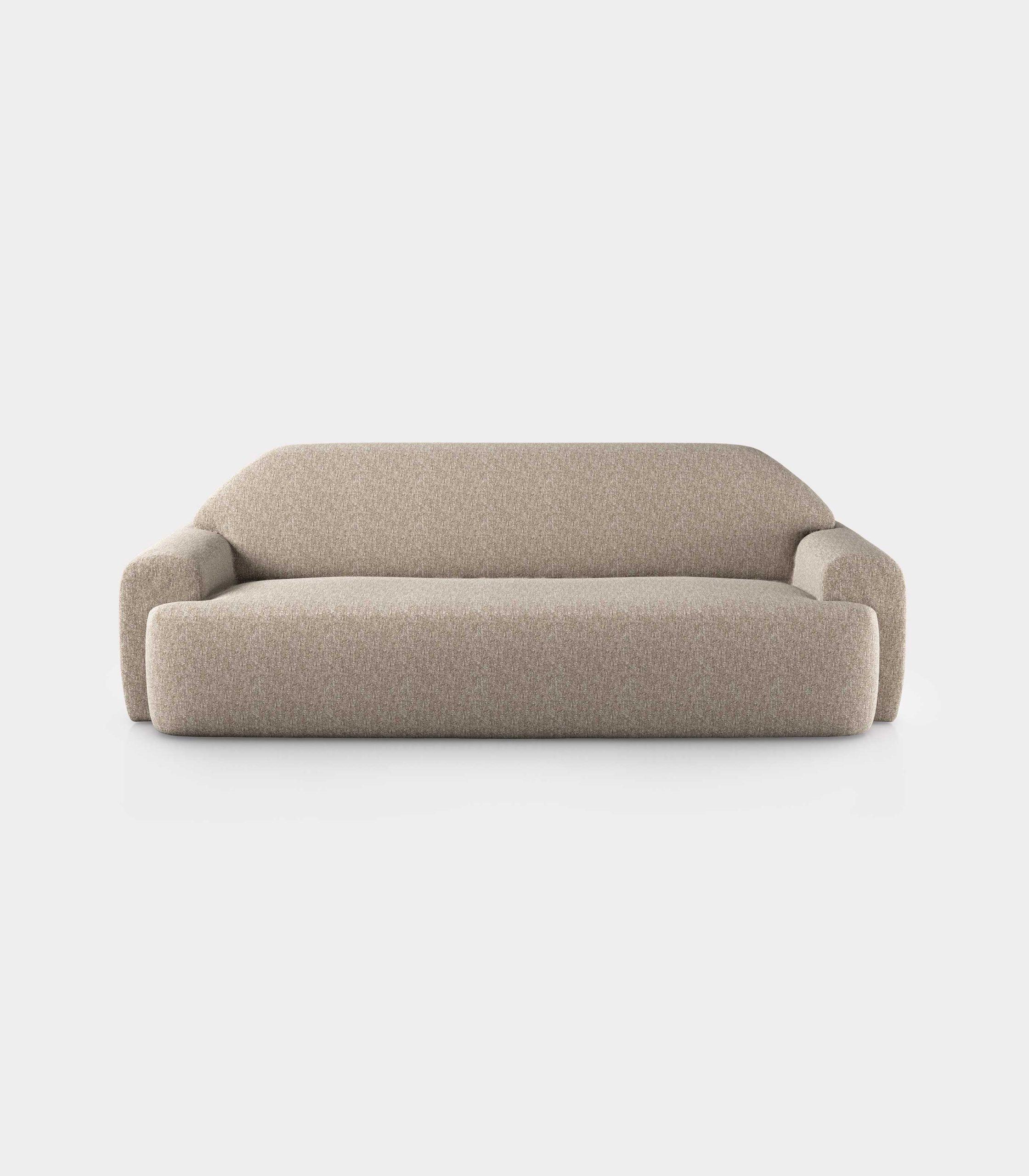 """""""Minimal"""" three seater cream velvet sofa loopo milan design F"""