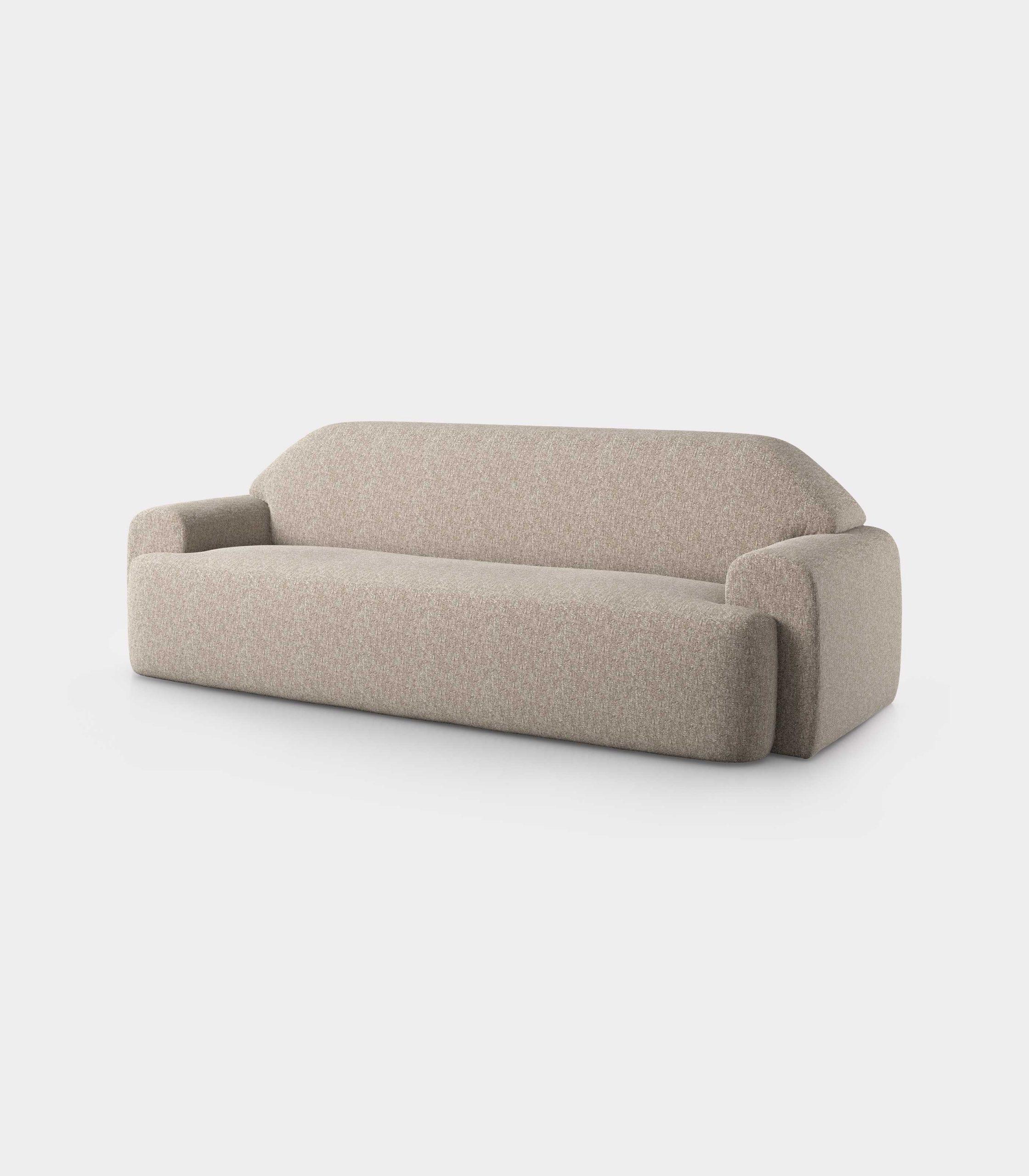 """""""Minimal"""" three seater cream velvet sofa loopo milan design FD"""