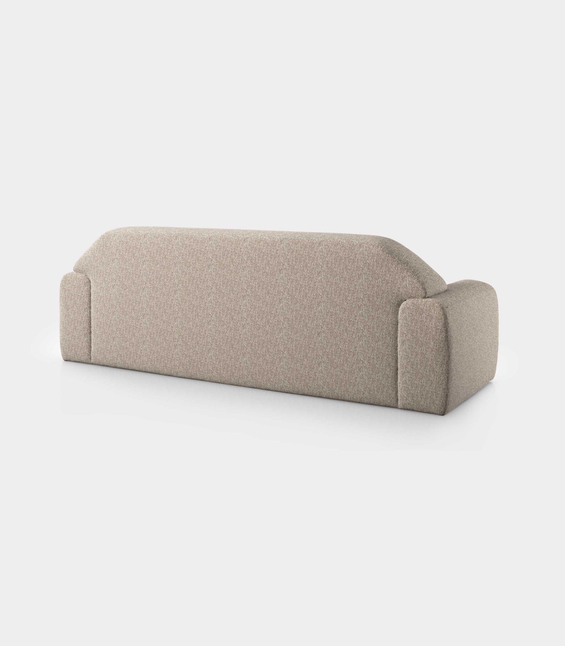 """""""Minimal"""" three seater cream velvet sofa loopo milan design R"""