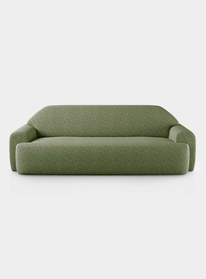"""Minimal"" 2 seater green velvet sofa loopo milan design F"