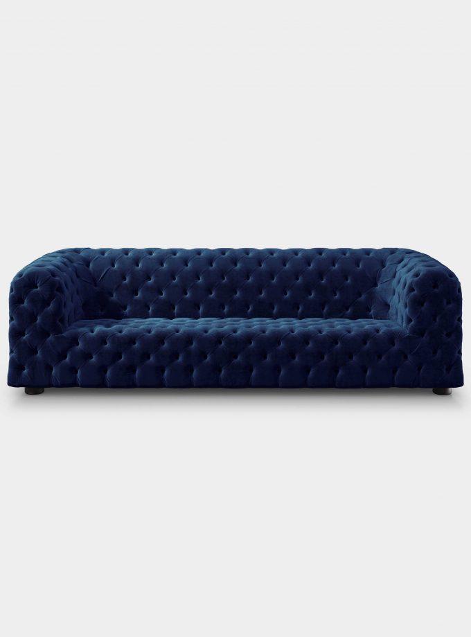 divano dubai capitonne velluto blu loopo milan design F