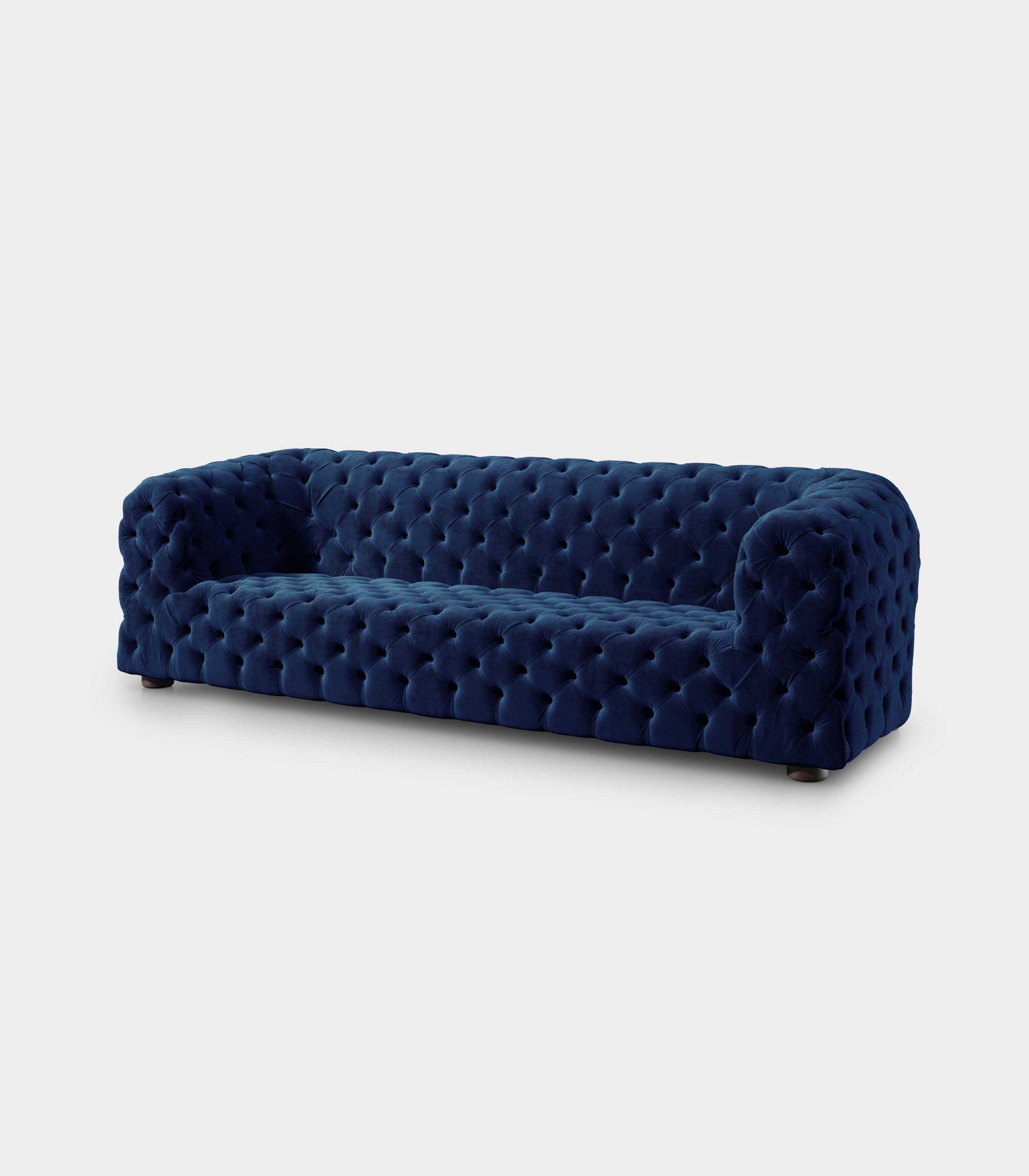 divano dubai capitonne velluto blu loopo milan design FD
