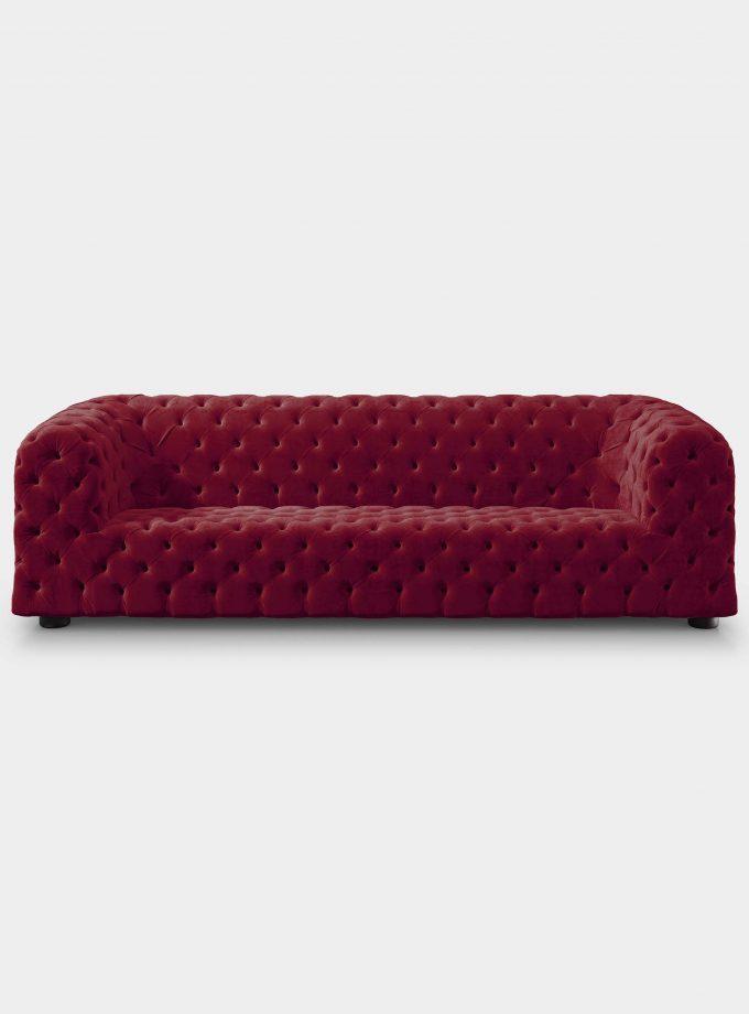 divano dubai capitonne velluto rosso loopo milan design F