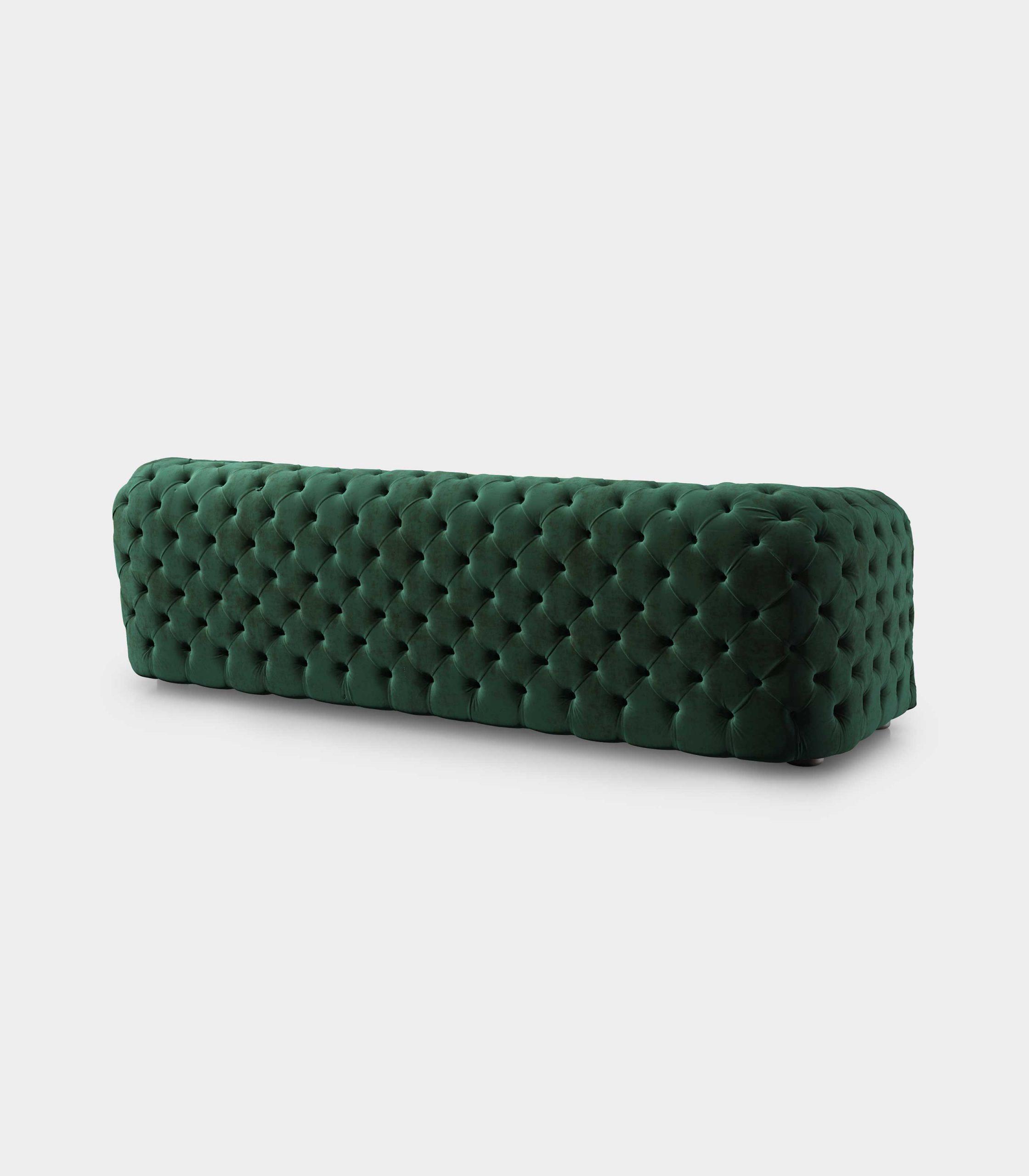 Capitonné green velvet sofa loopo milan design R