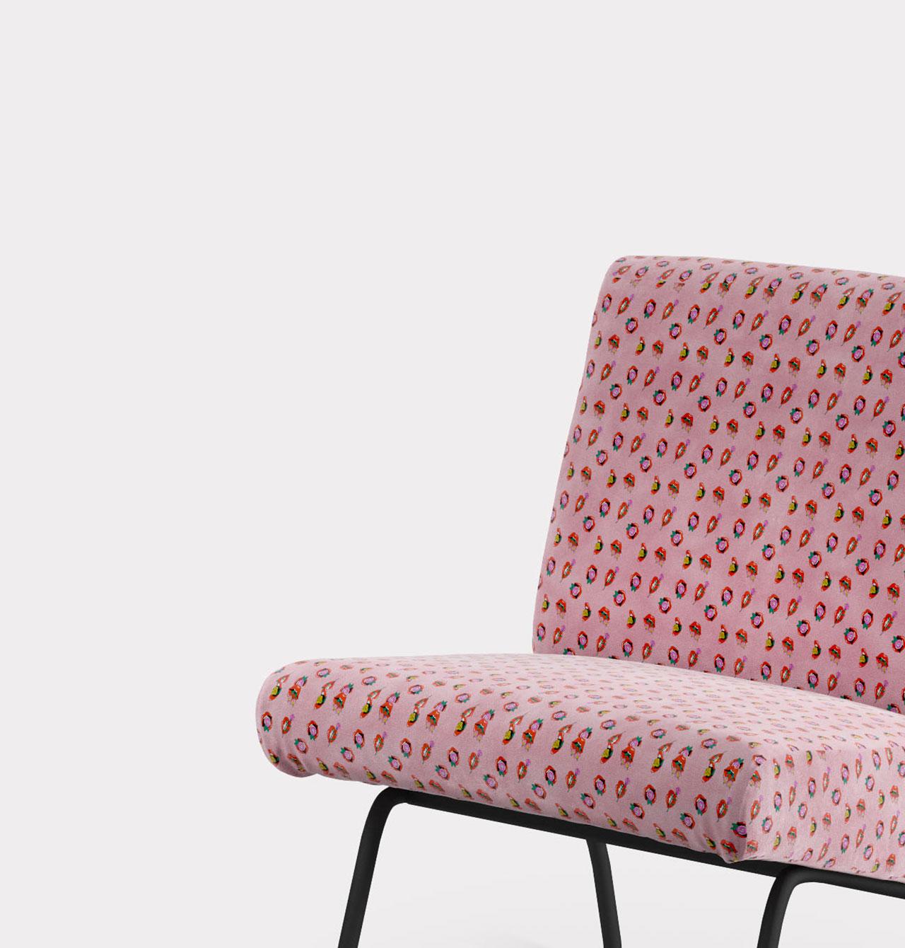 Forniture and living poltrona pattern bocche e fiori loopo milan design FS
