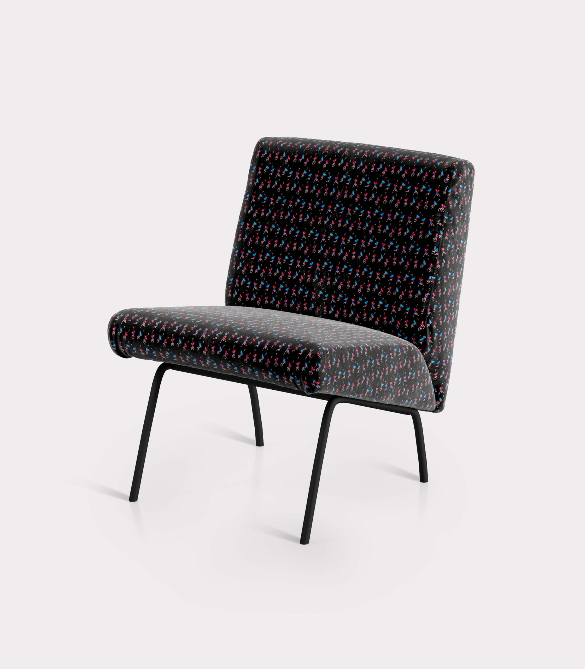 """Armchair with """"Dancers and Umbrellas"""" pattern loopo milano design FS"""