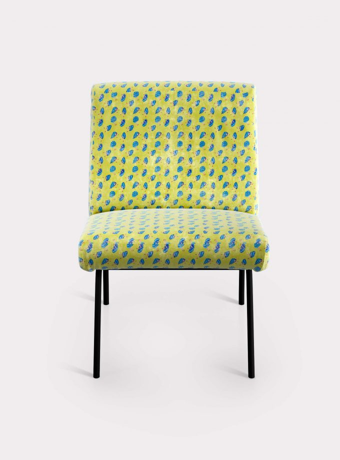 "Armchair with ""Shells and Legs"" pattern loopo milano design F"