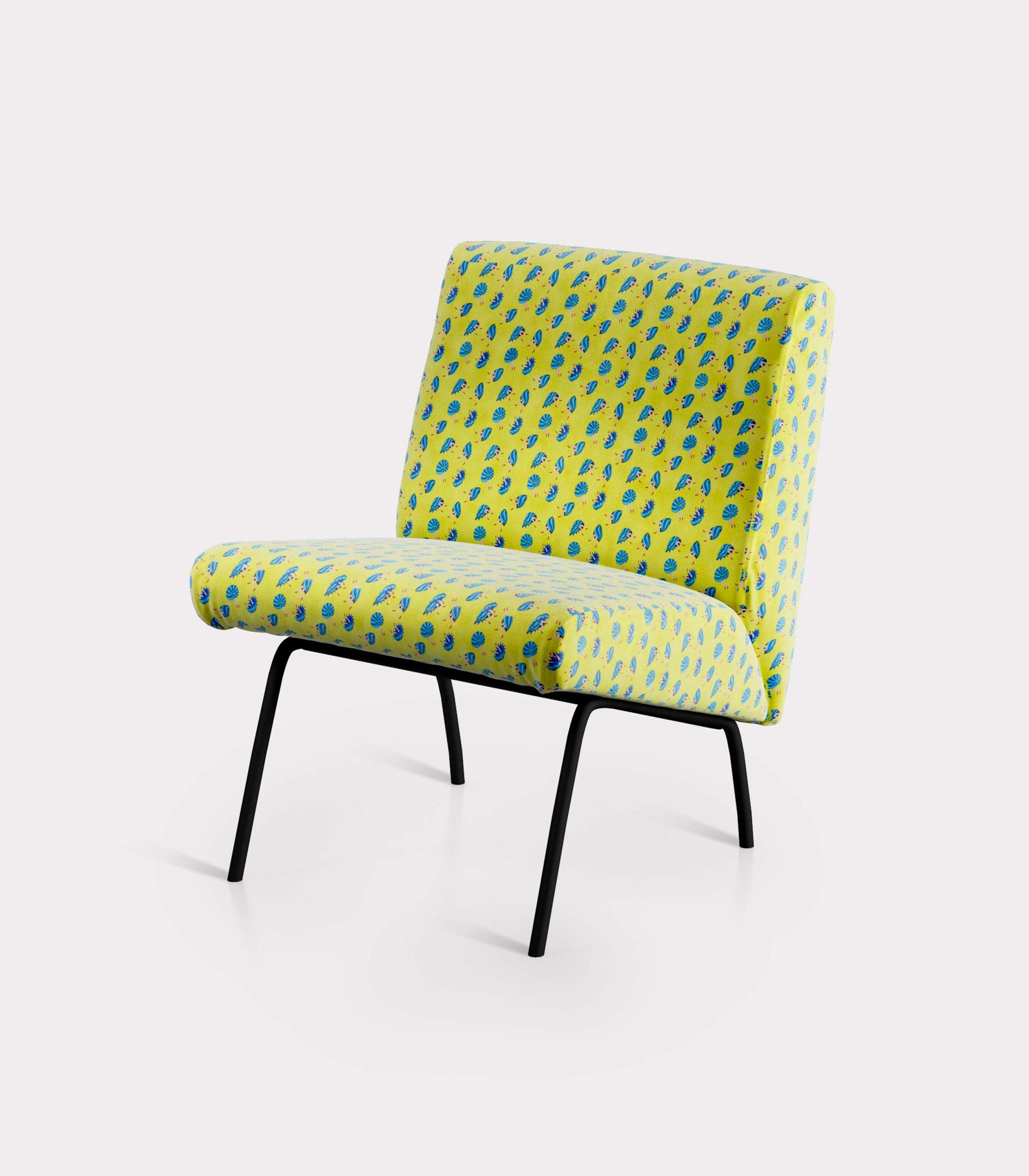 poltrona pattern conchiglie e gambe loopo milano design FD