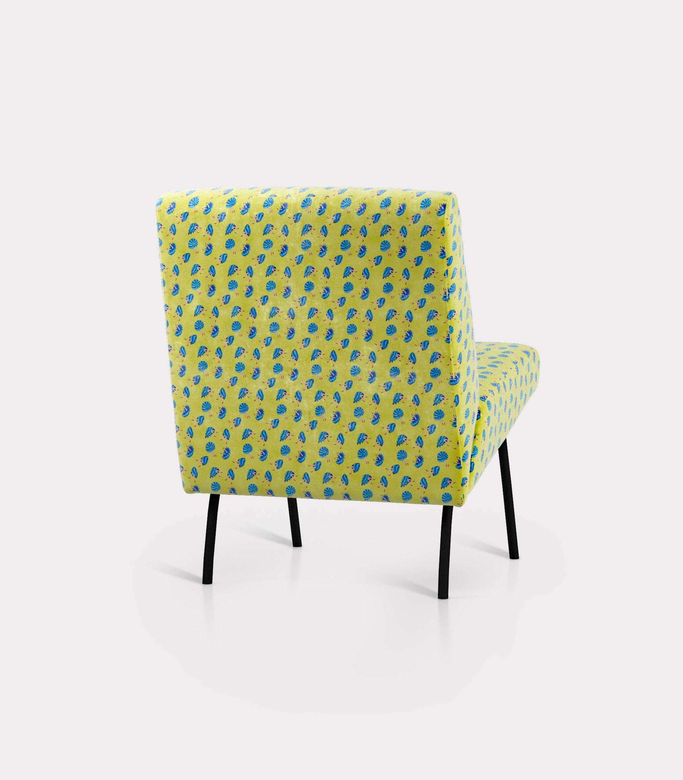 poltrona pattern conchiglie e gambe loopo milano design R