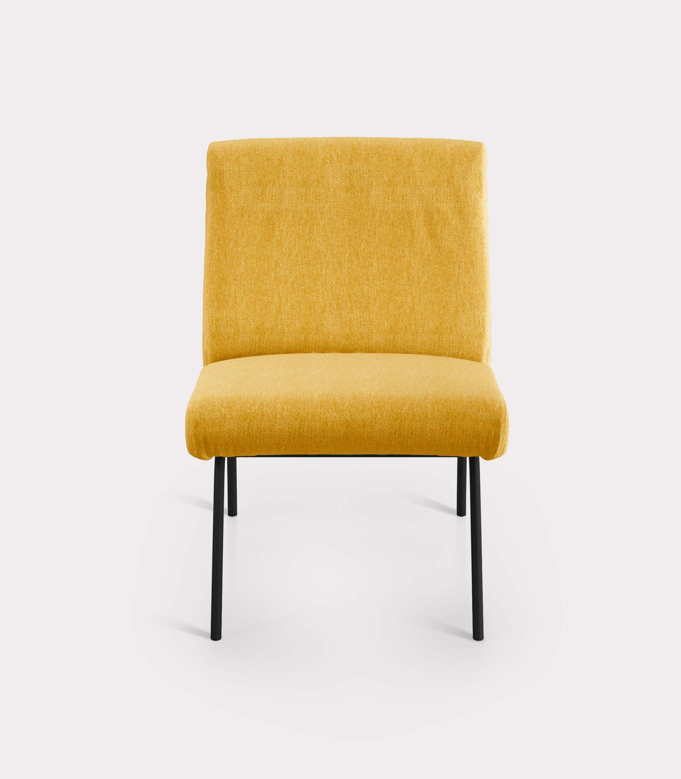 poltrona solid gialla milano design F