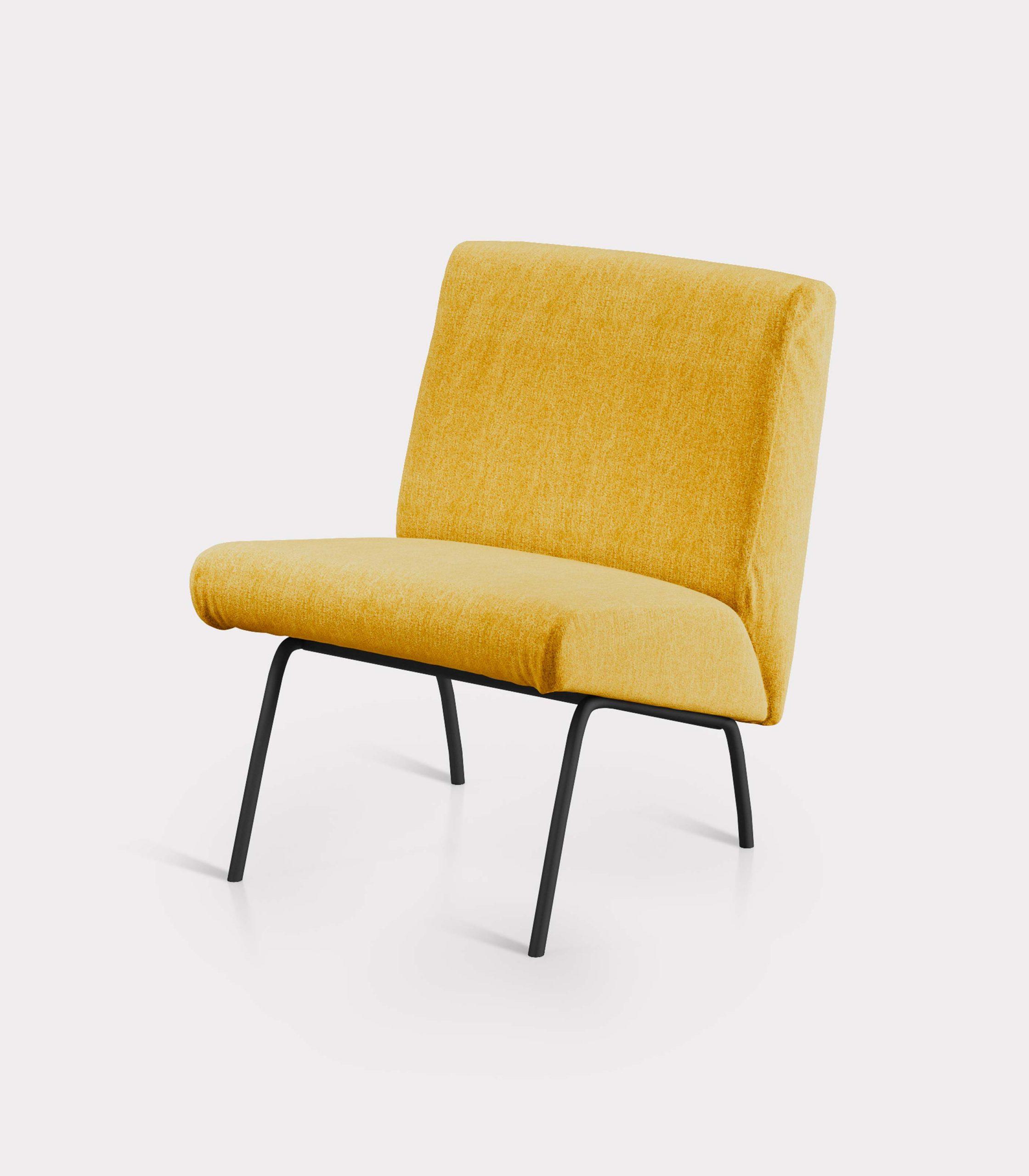 poltrona solid gialla milano design FD