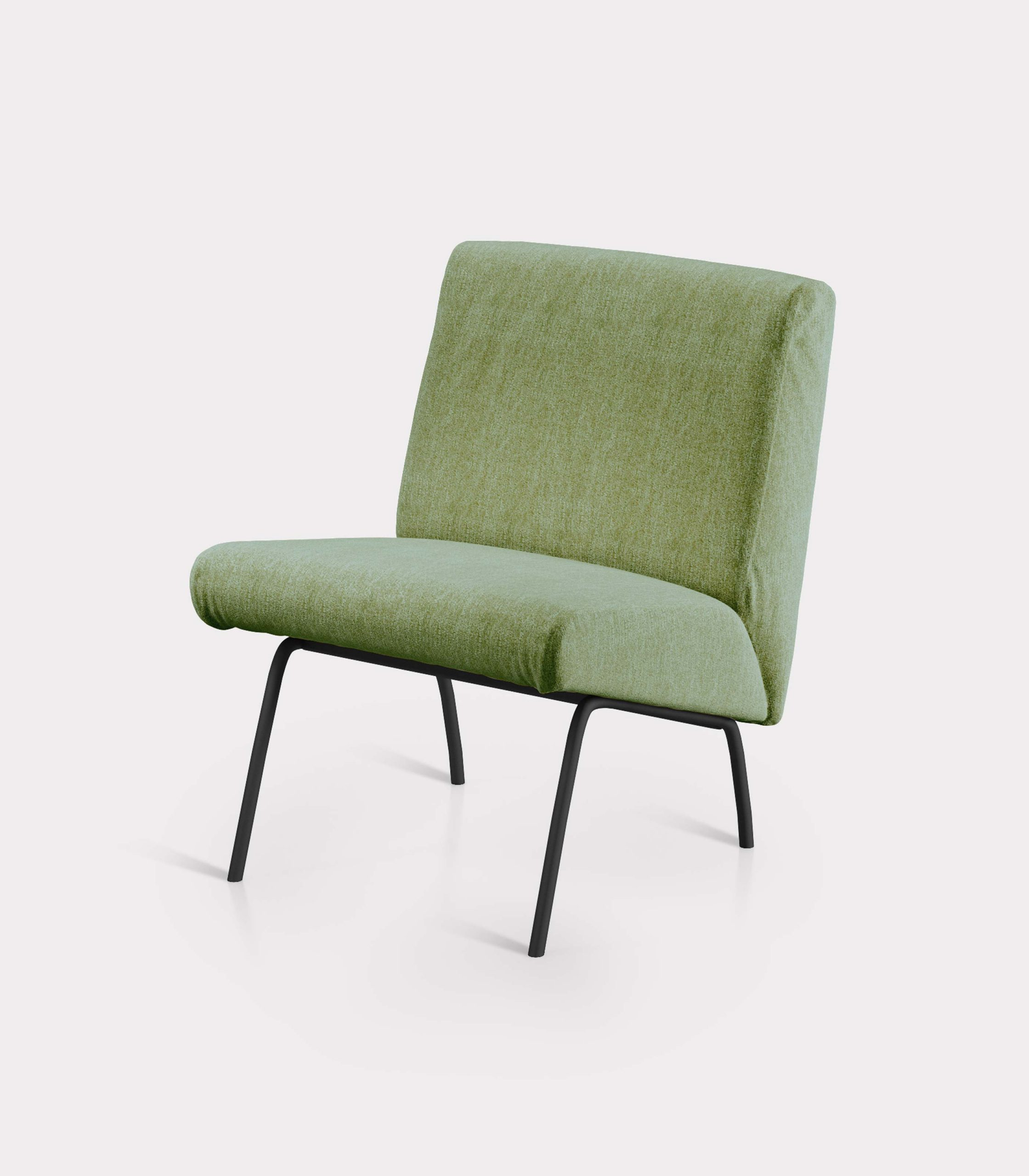 Olive green armchair in bouclé fabric milano design FD