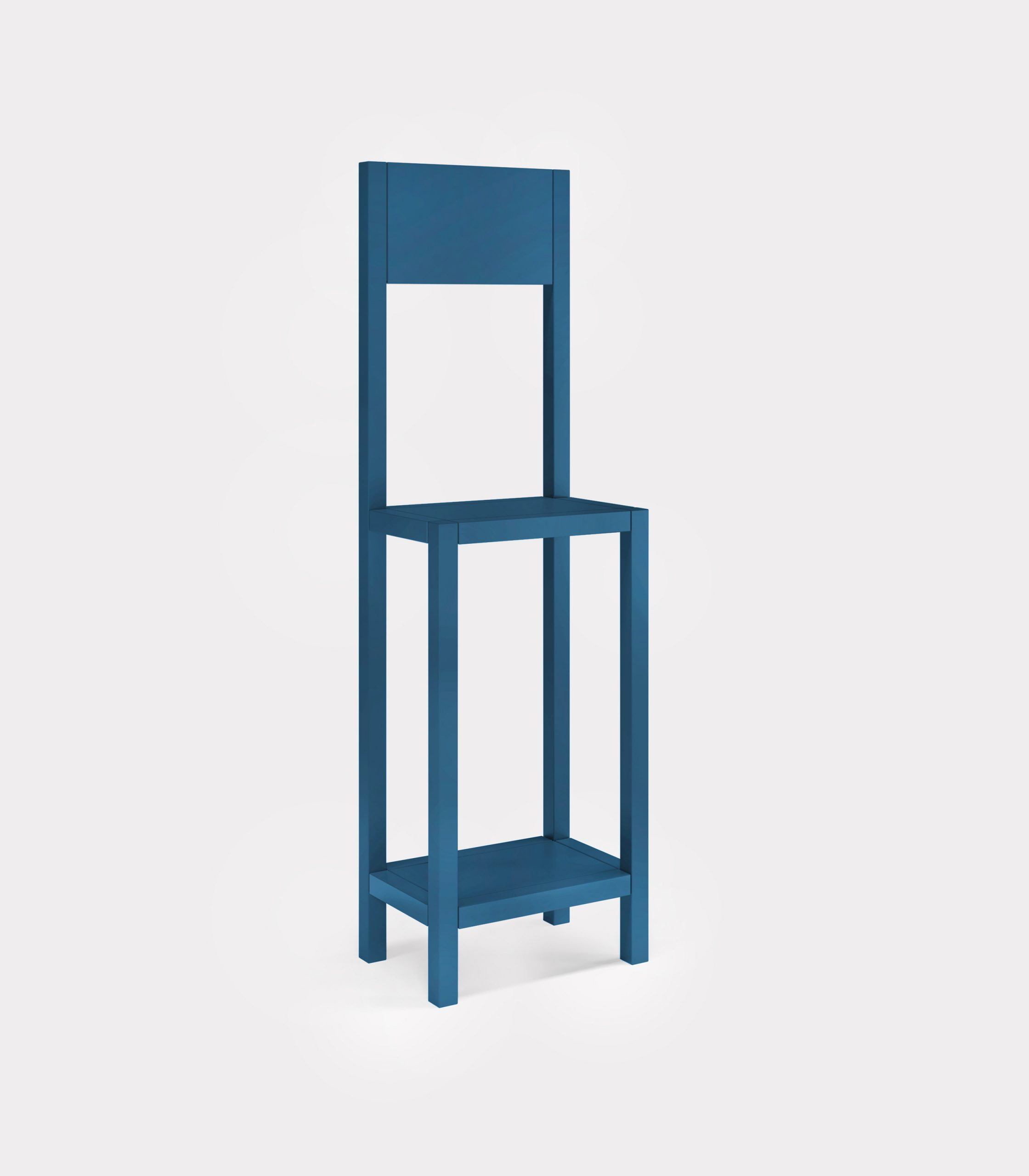 Petrol blue chair for an unexpected guest loopo milano design FD