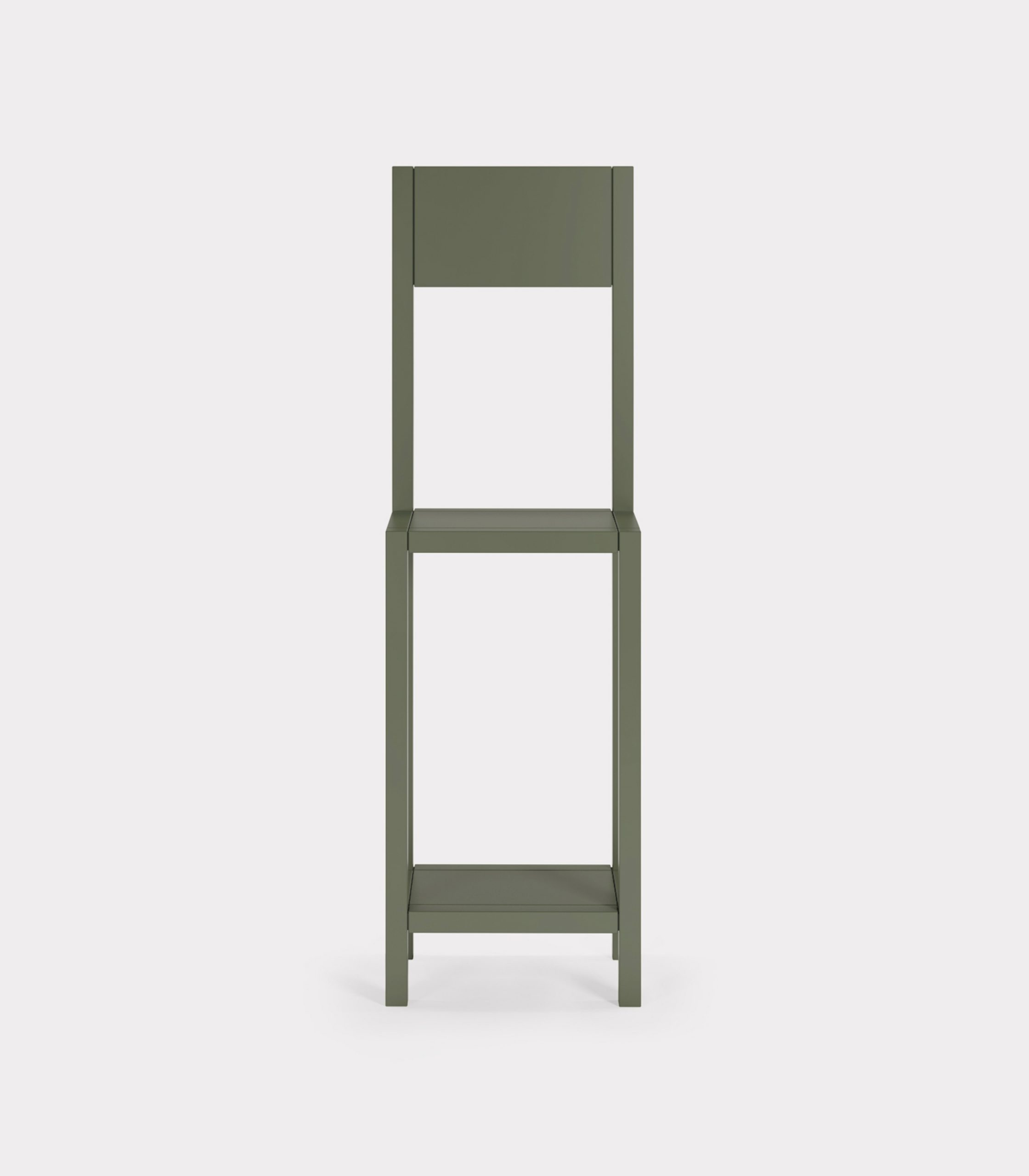 Olive green chair for an unexpected guest loopo milano design F