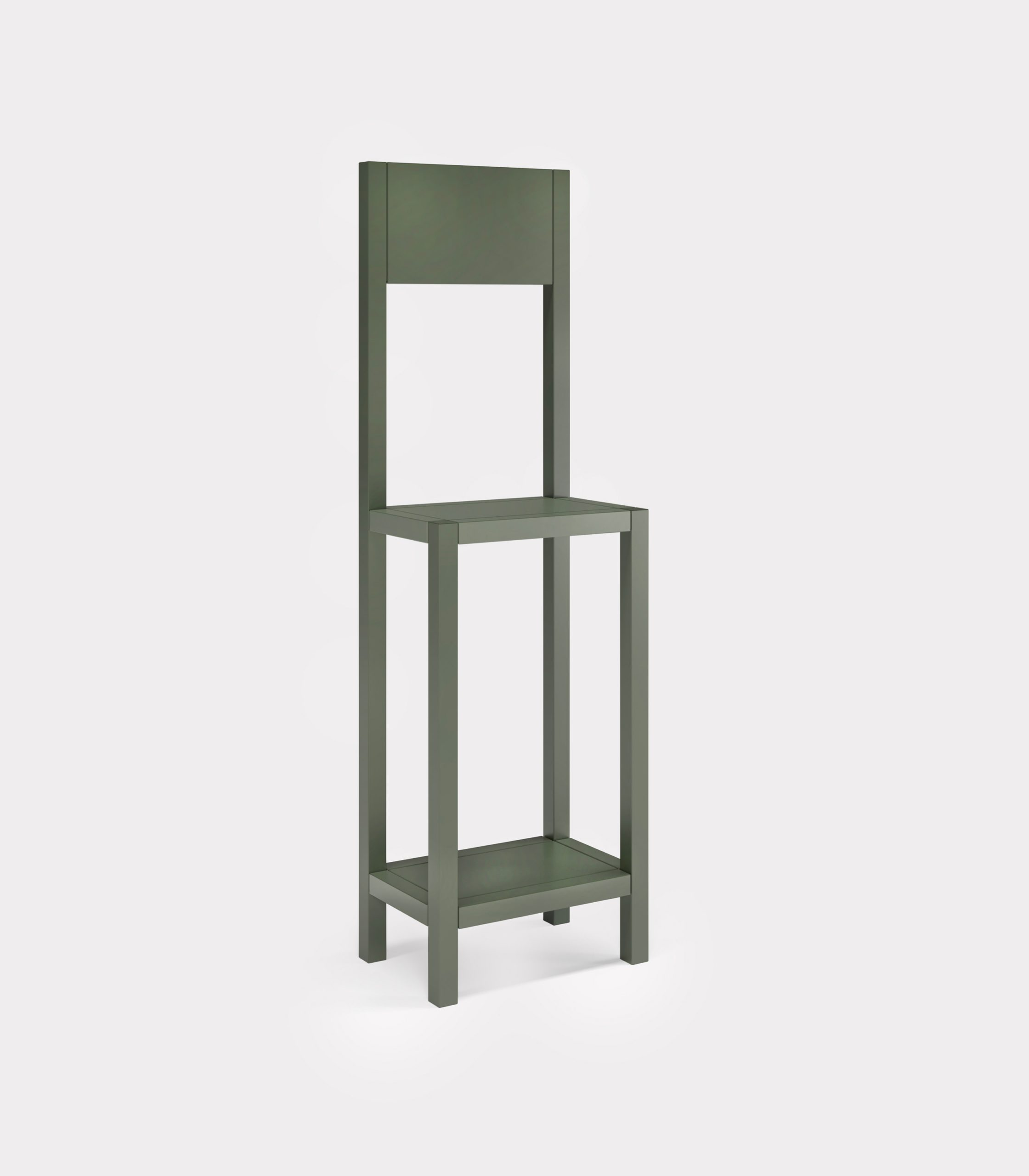 Olive green chair for an unexpected guest loopo milano design FD