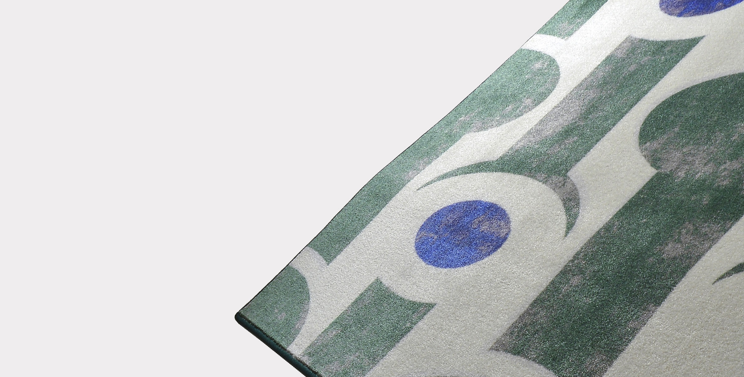 Textile and rugs abstract verde loopo milano design FD