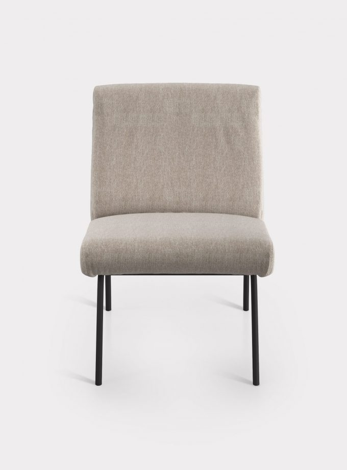 Beige armchair in bouclé fabric loopo milan design F