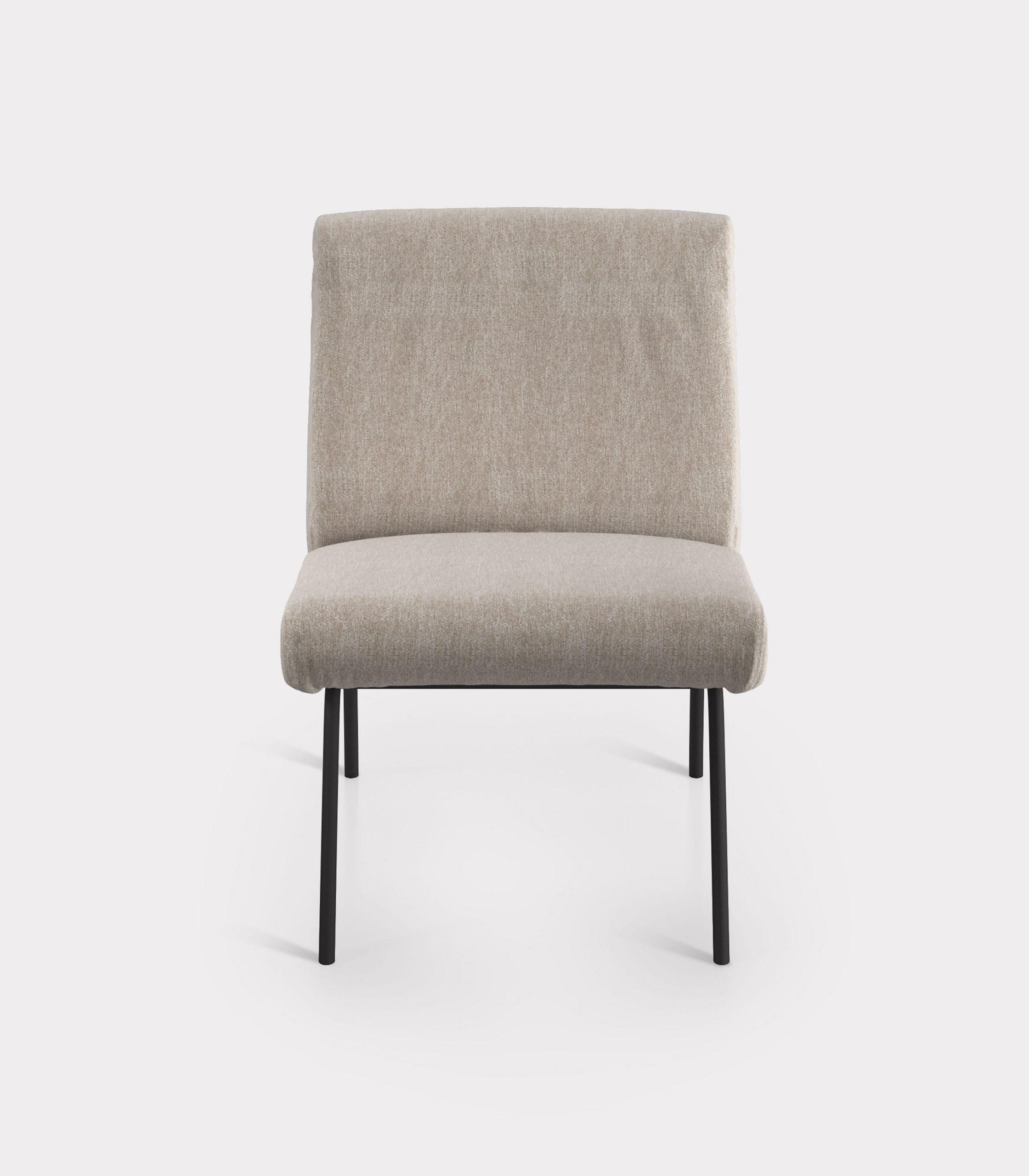 Beige armchair in bouclé fabric loopo milan design F