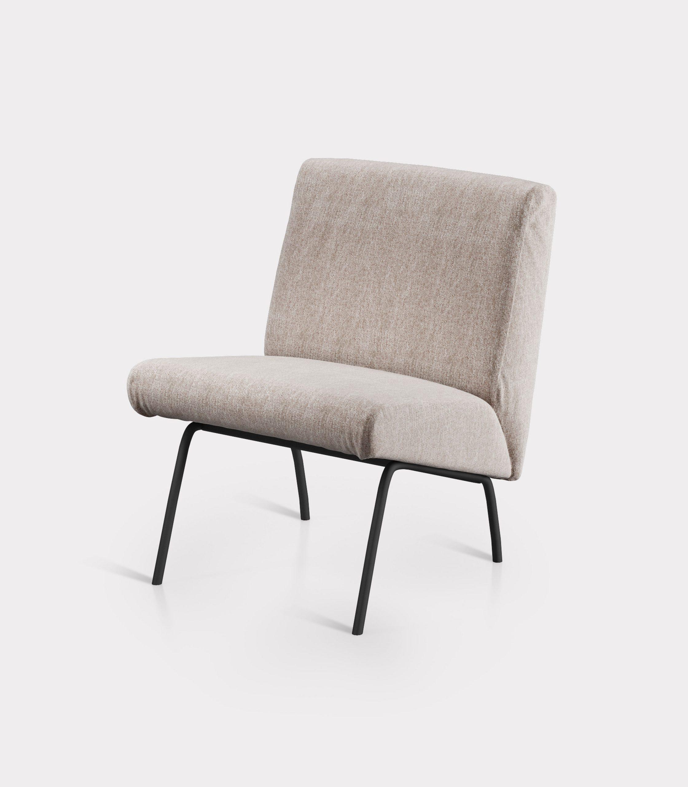 Beige armchair in bouclé fabric loopo milan design Fs