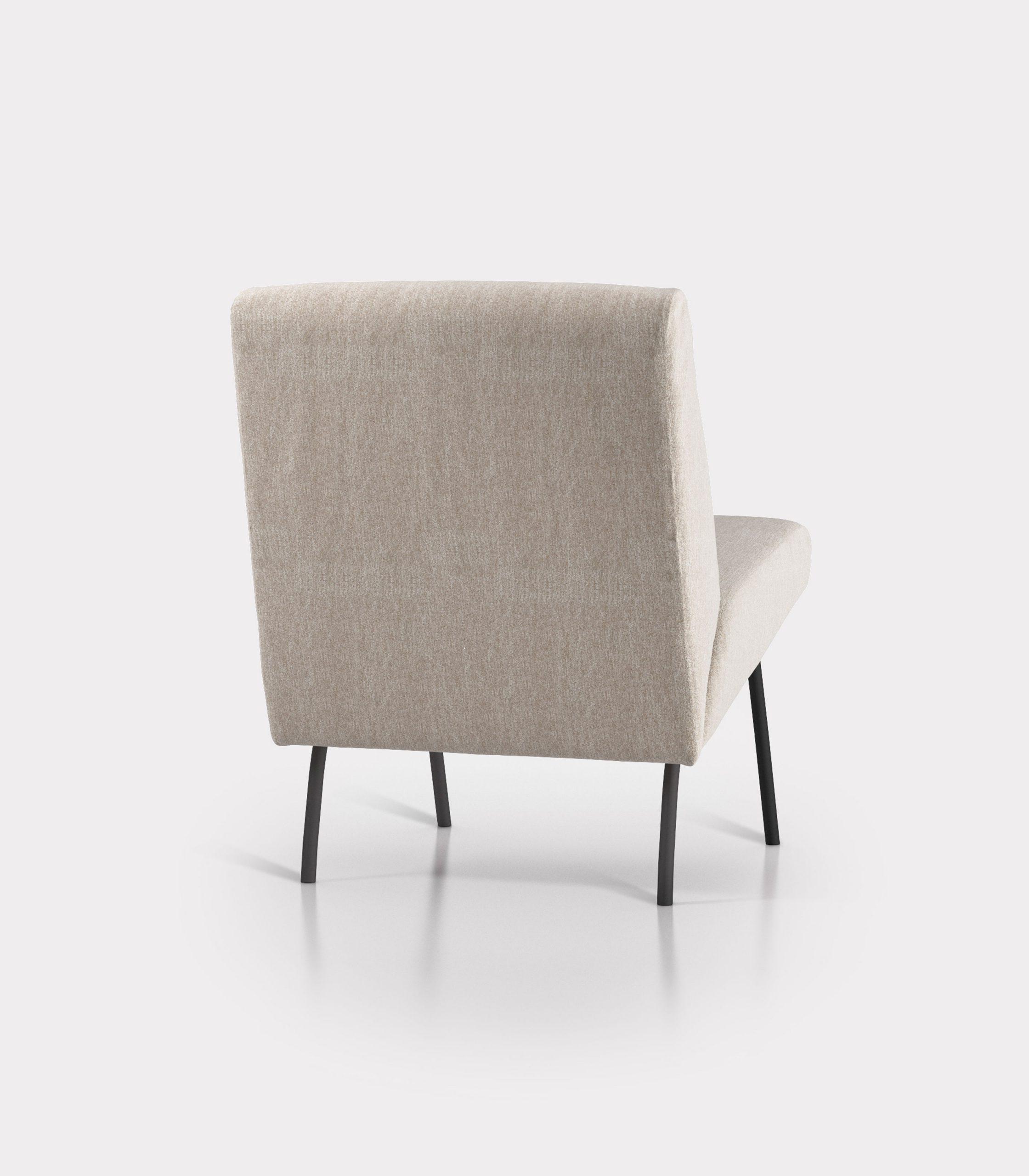 Beige armchair in bouclé fabric loopo milan design R