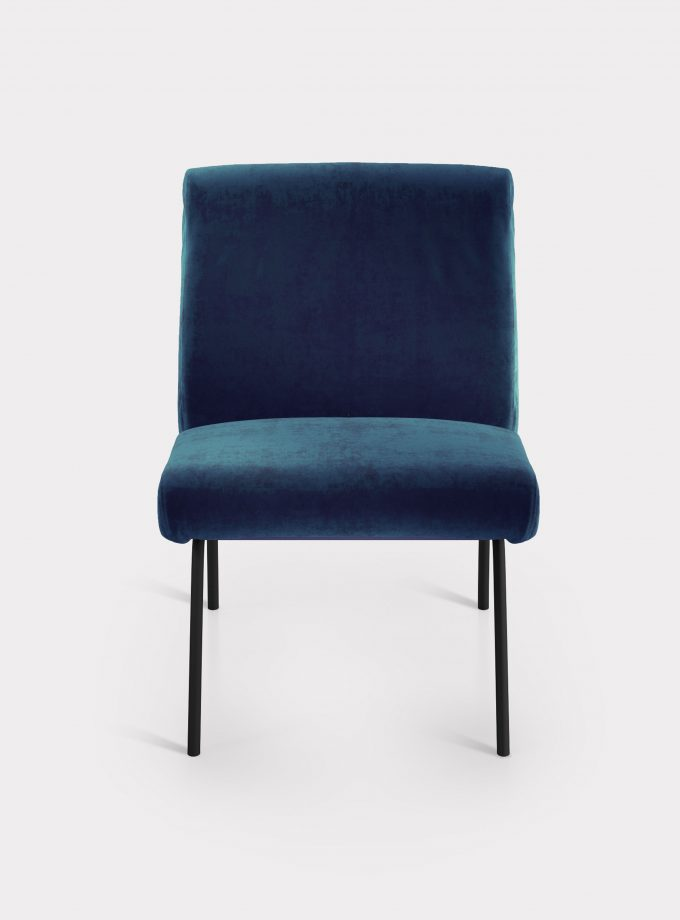 poltrona velluto blu loopo milan design F