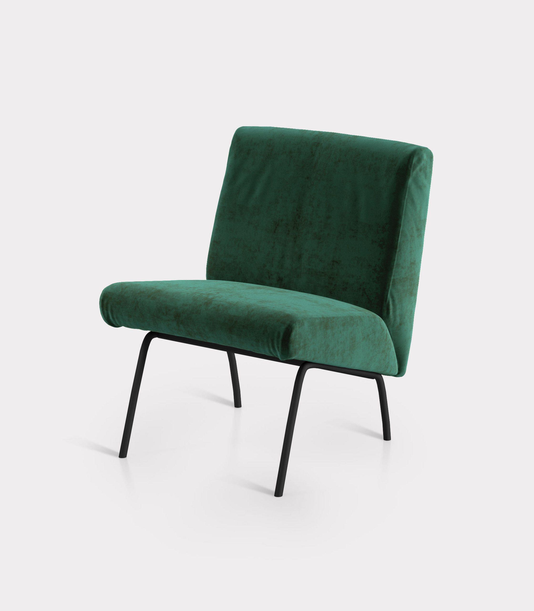 poltrona velluto verde loopo milan design FS
