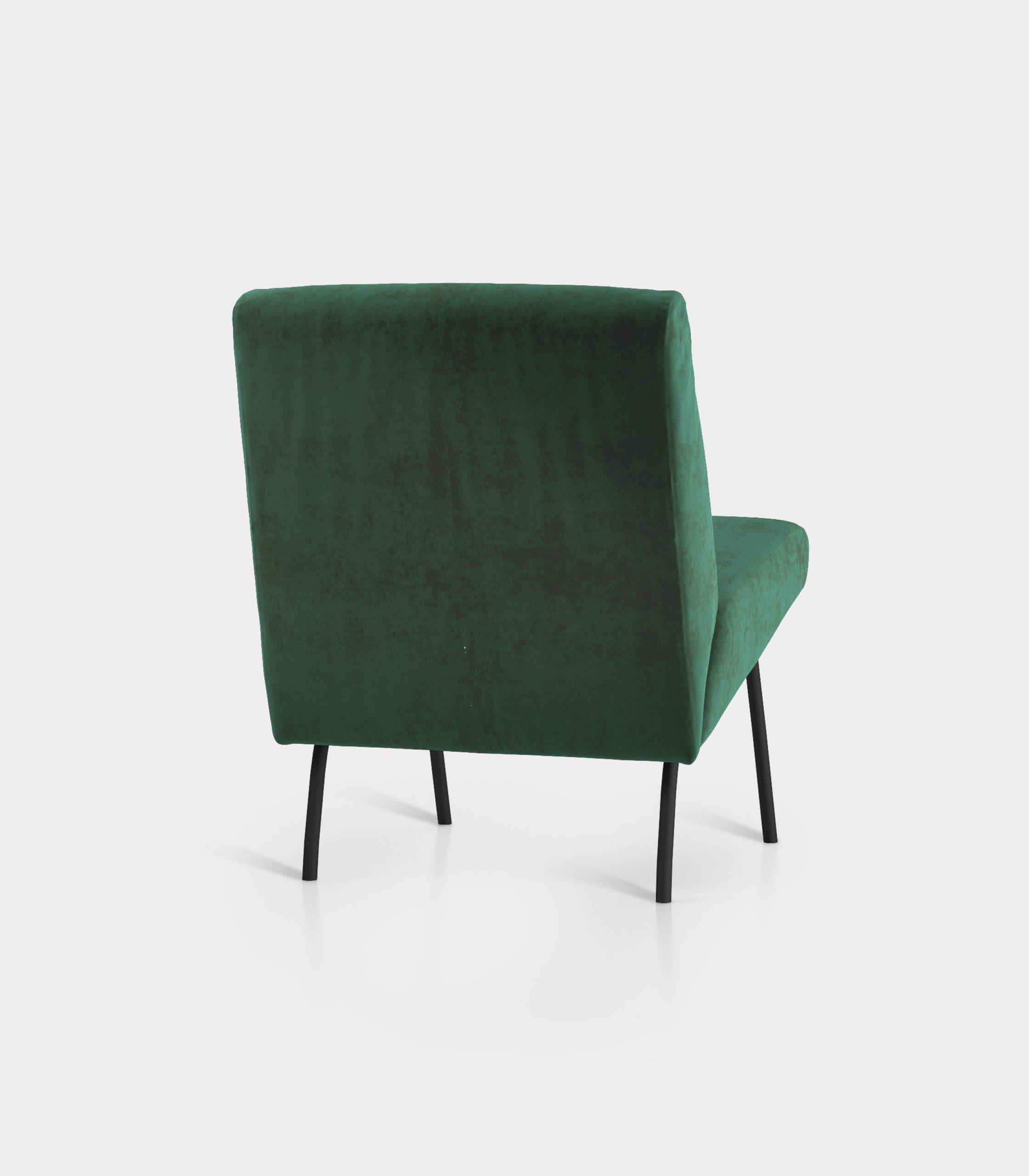 poltrona velluto verde loopo milan design R