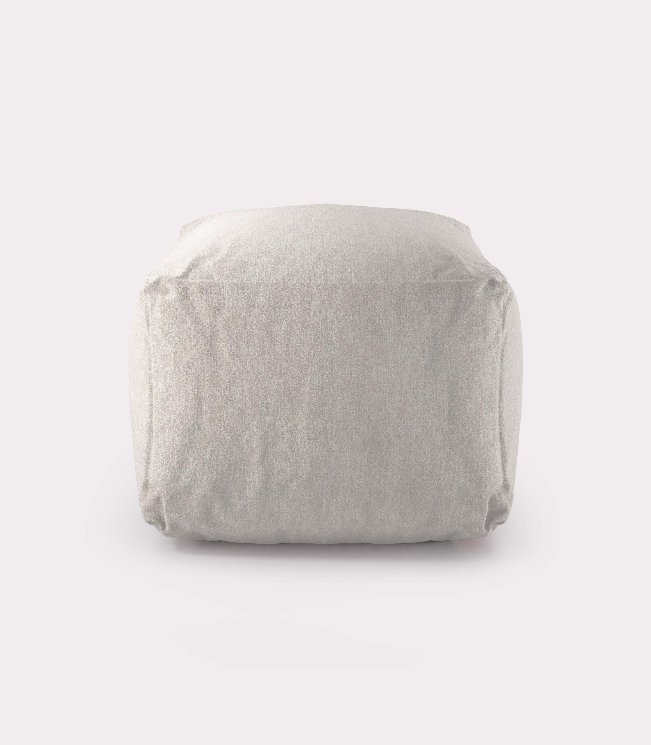Polystyrene white pouf loopo milan design F