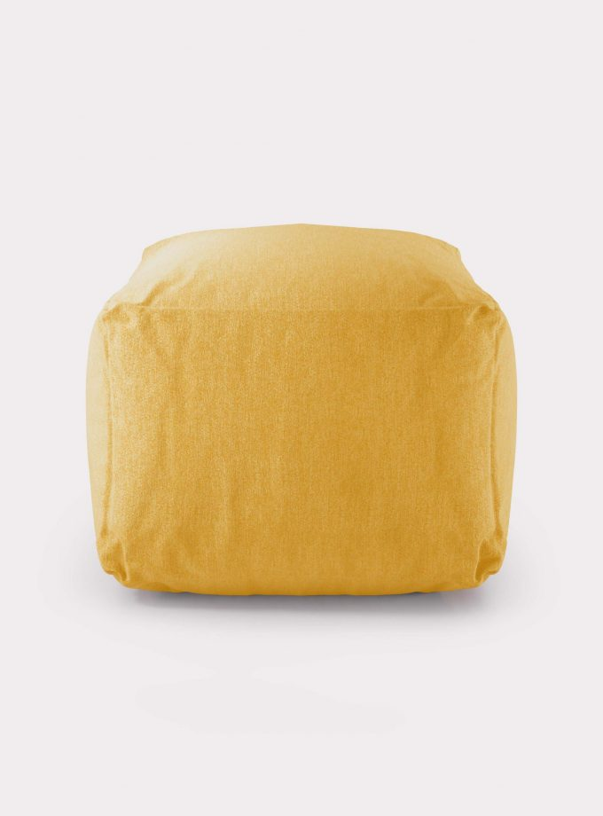 Polystyrene yellow Pouf loopo milan design F