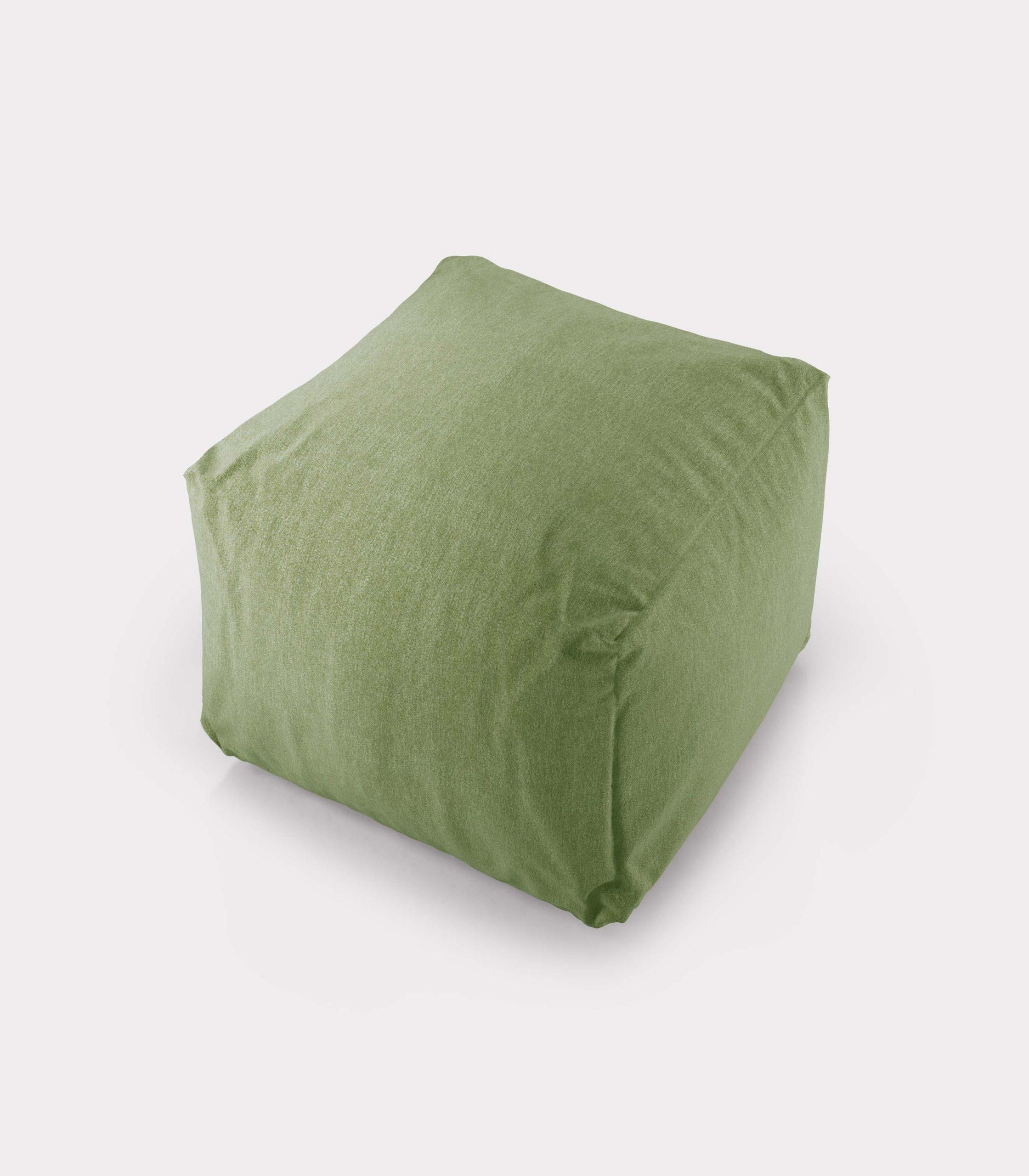 Polystyrene green pouf loopo milan design A