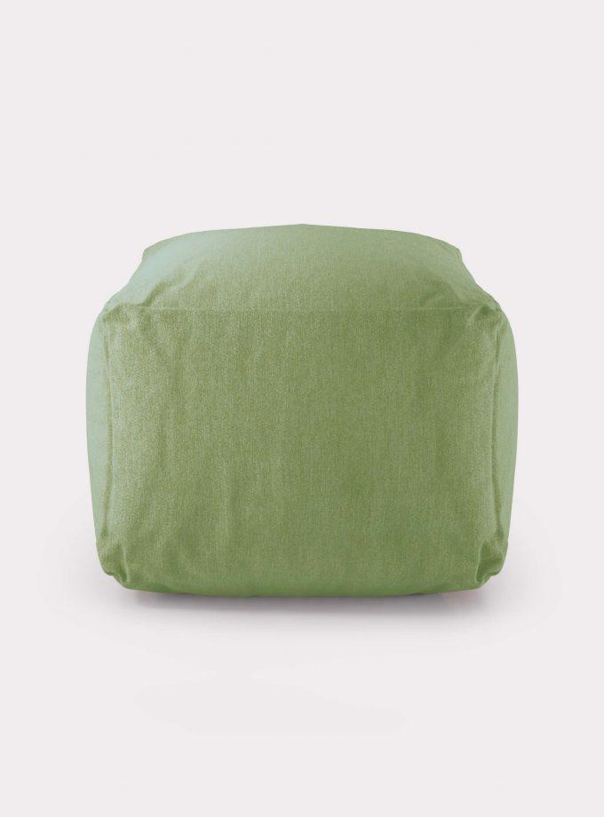 Polystyrene green pouf loopo milan design F