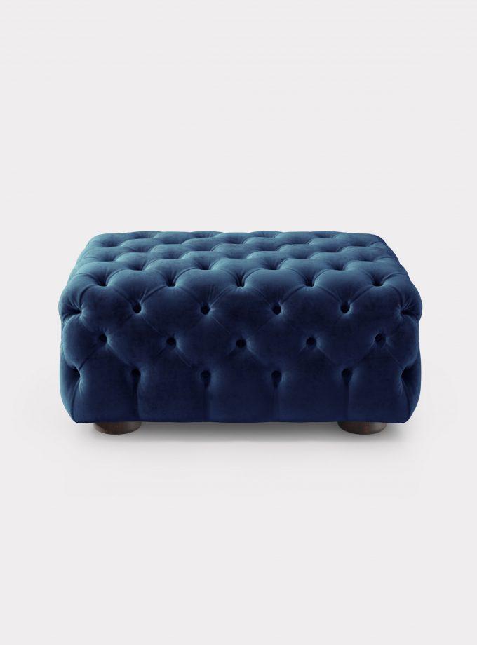 Blu velvet Pouf capitonné loopo milan design A